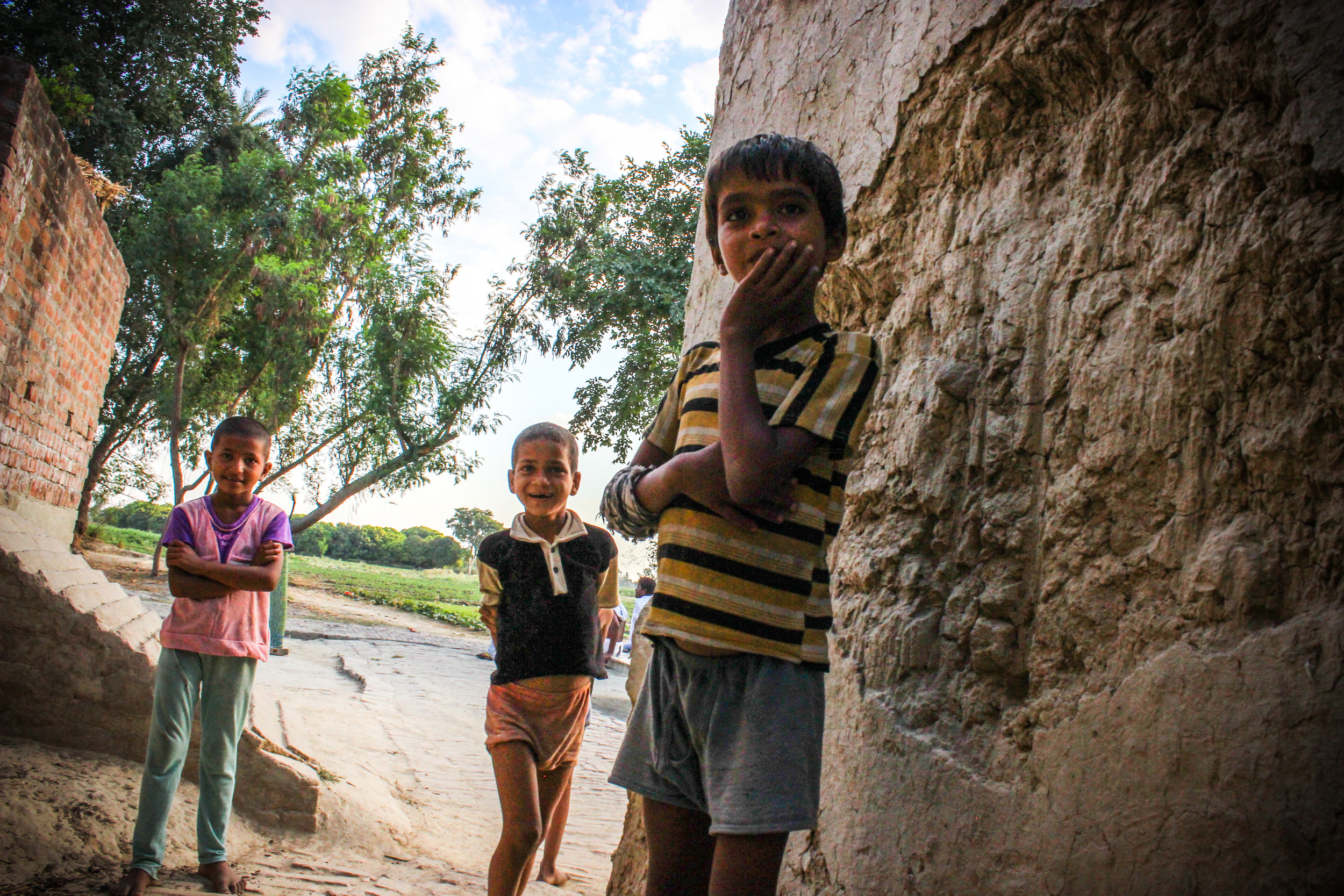 Children fromthe village we visited.