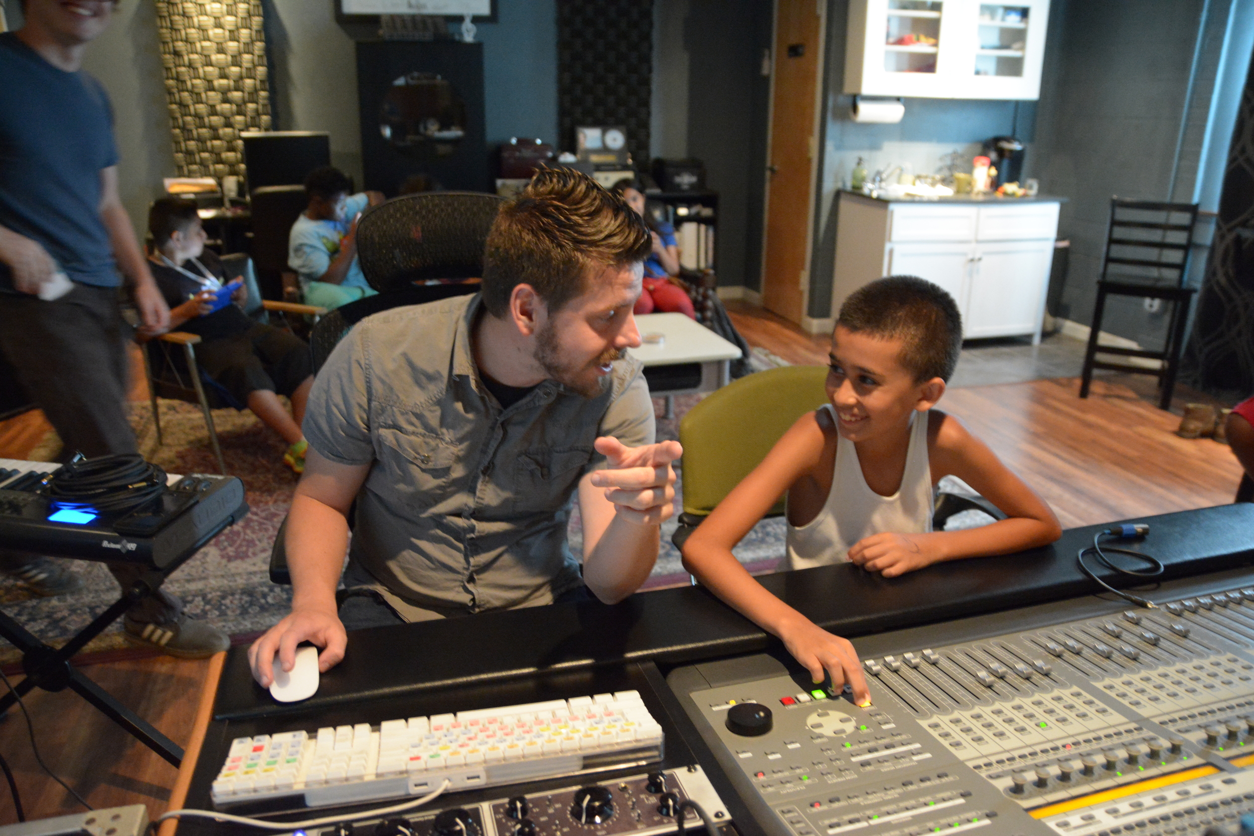 Campers got to participate in activities like Zumba and songwriting, and even got a chance to visit a music studio, where they recorded a song together!