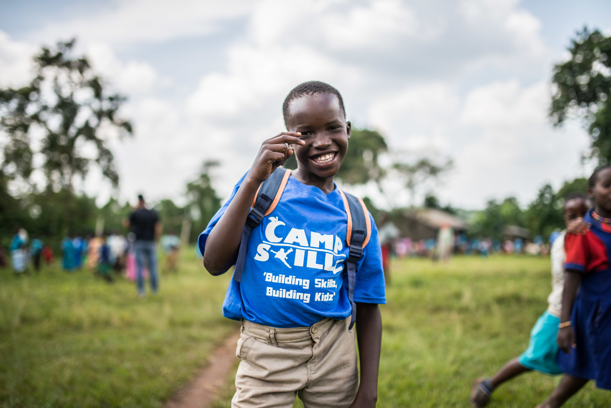 We were happy to provide the full Camp Skillz experience to the children in Uganda, including t-shirts, lunch, and a quality camp experience. African kids are not worth less than American ones. We are committed to giving all kids the best!