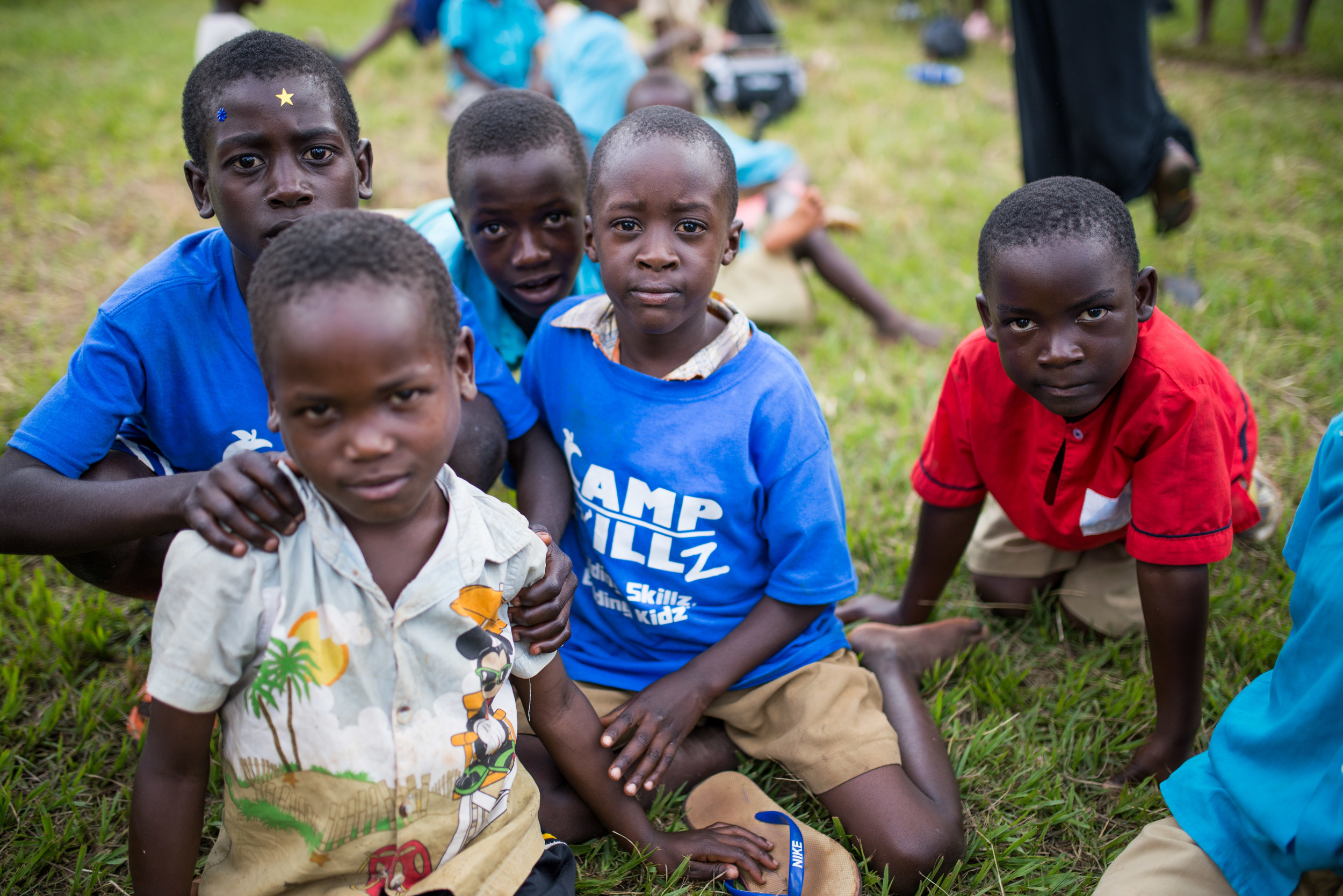 The area surrounding St. John's is extremely impoverished. Most children showed up to camp without shoes. Many of them told us it was the only meal they would eat that day.