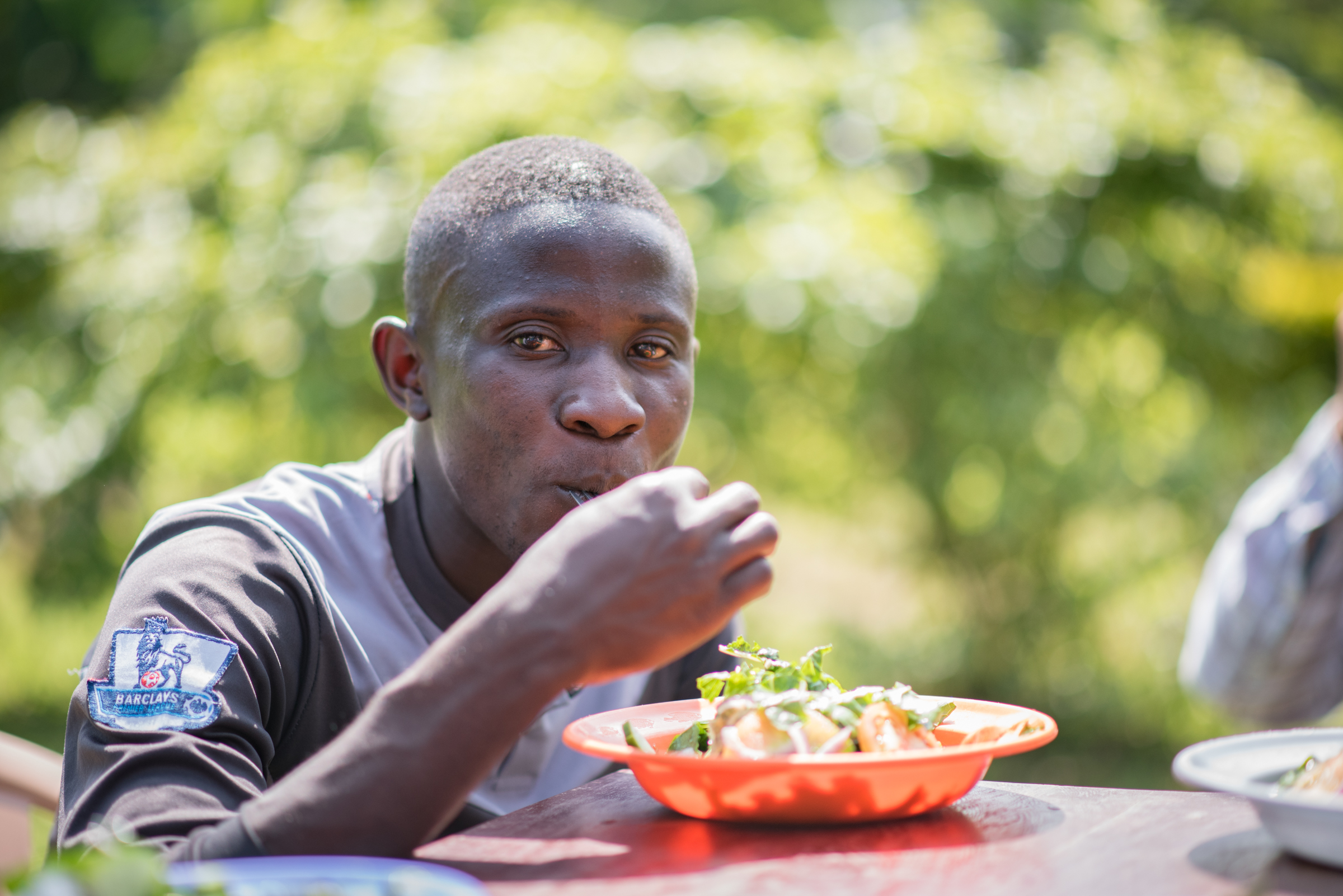 In Uganda, vegetables are not often consumed in raw form. Most nutrients diminish due to overcooking. We were able to introduce our friends to salad, with all of the ingredients grown on our property.
