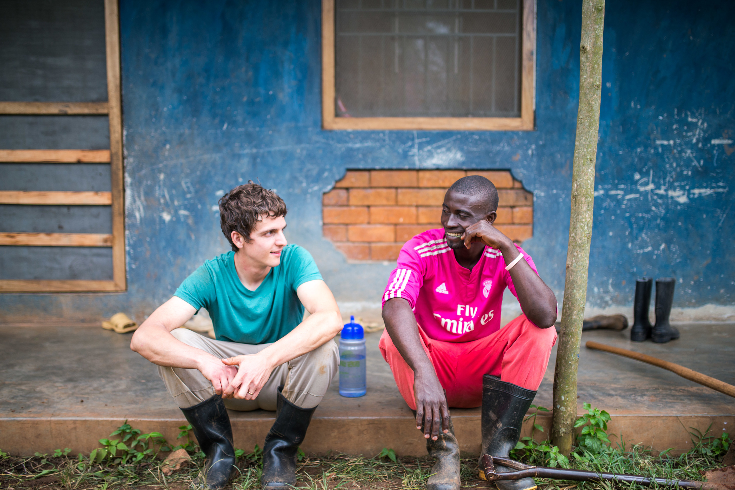Matt James and an Institute for G.O.D. EA student take a break from working. The friendships formed between our team in the US and in Uganda is undeniable. It is specifically these relationships that are motivating in thinking through solutions for the third world.