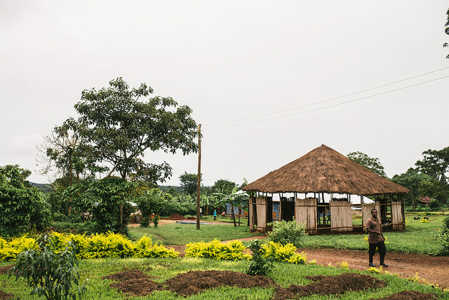 This is our original thatch-roofed gazebo. It is utilized for meetings and classes of all kinds, worship times and more. It is one of the most utilized structures on our entire property.