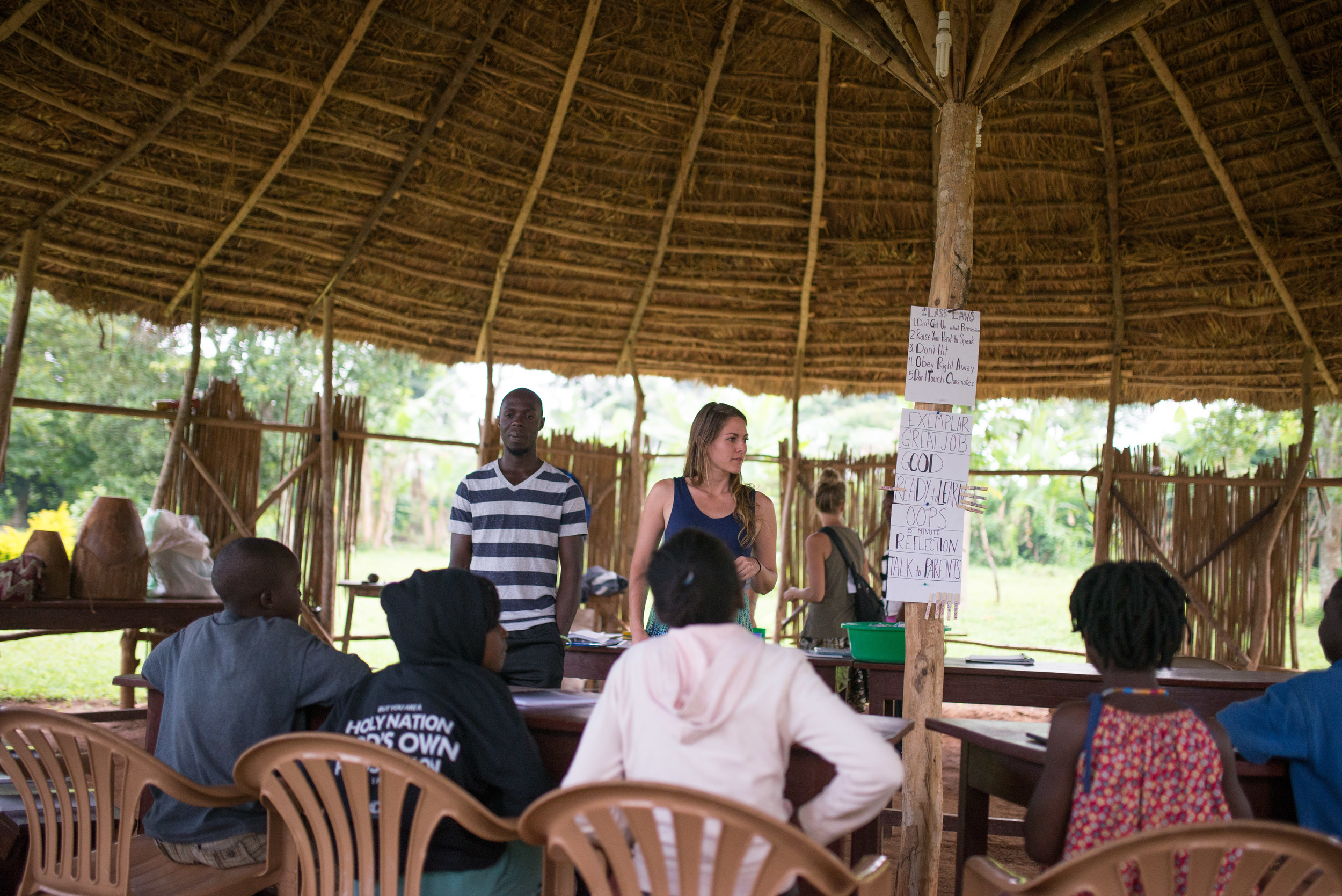 The gazebo also functions as a classroom, here for children, all the way to adult bible classes, community bible studies, and more.
