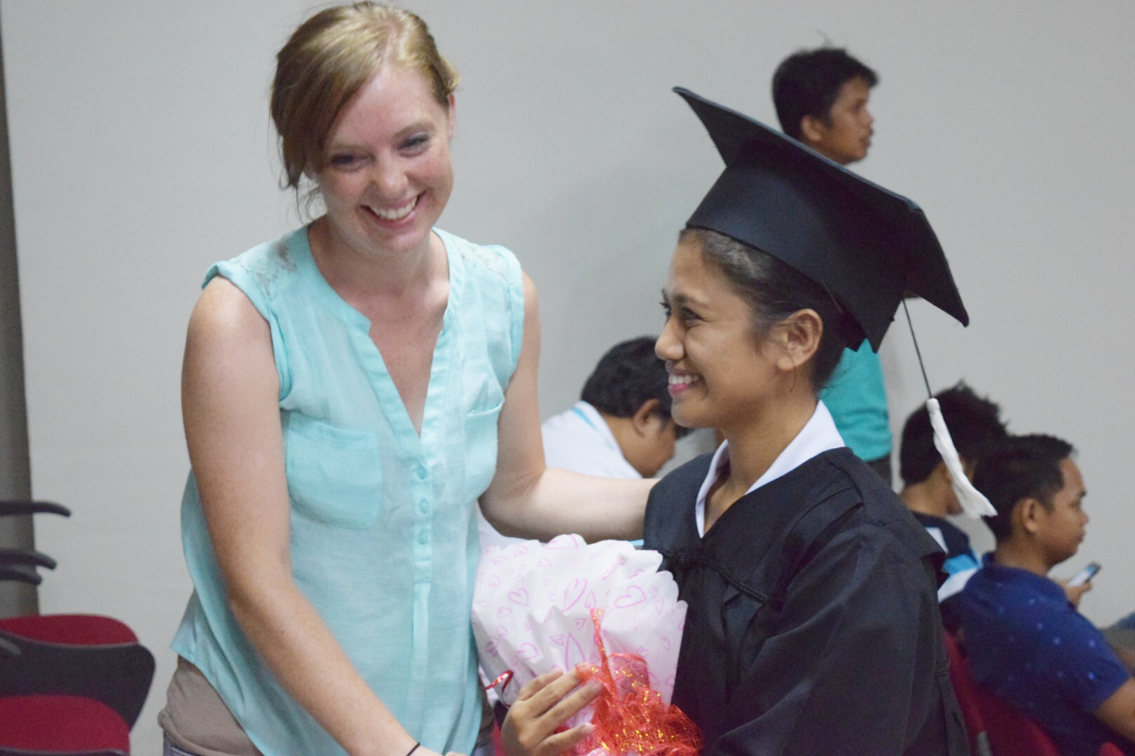Breann Bennecker and other members of the SEA team traveled to celebrate Jackie's graduation.