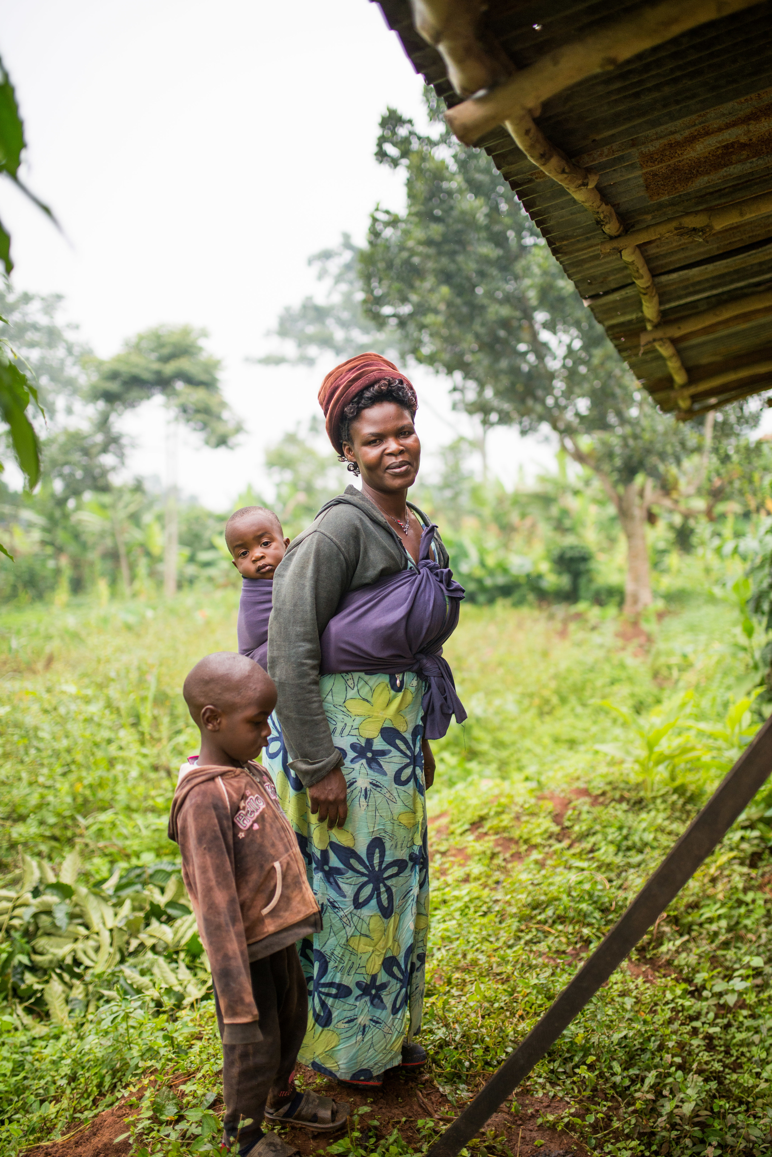 Cissy, mother of 6, will be one of the beneficients of this well. Along with mothering, Cissy oversees our animal husbandry project.