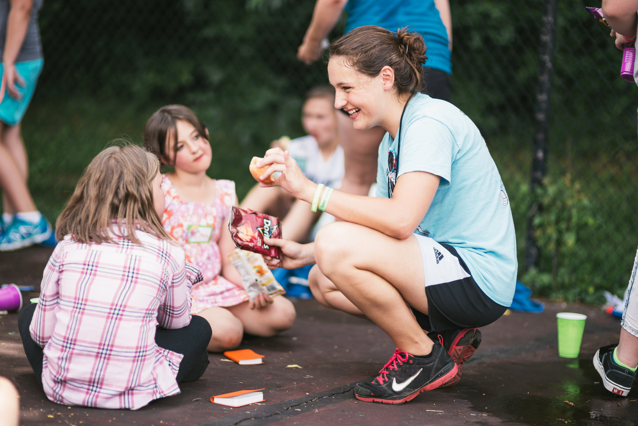 Campers are cared for by a committed staff and a host of volunteers from our youth program,SLAM. SLAM participants come from around the country to learn the Bible and participate in service opportunities for kids in the Nashville area.