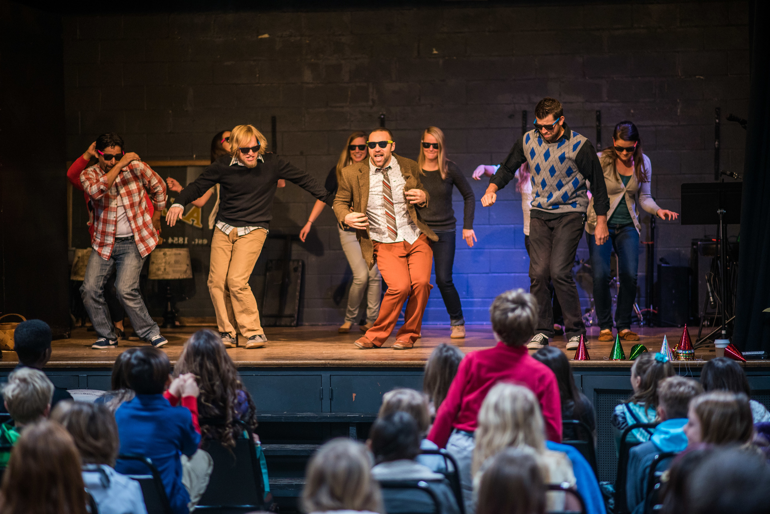 Teachers interrupted the year's first assembly with a flash mob! Mr. Duffy surprised everyone by turning the introductory speech into a Whip/Nae Nae dance party! Students loved the surprise, especially seeing Principal Johnson take charge of the stage for the final pose.