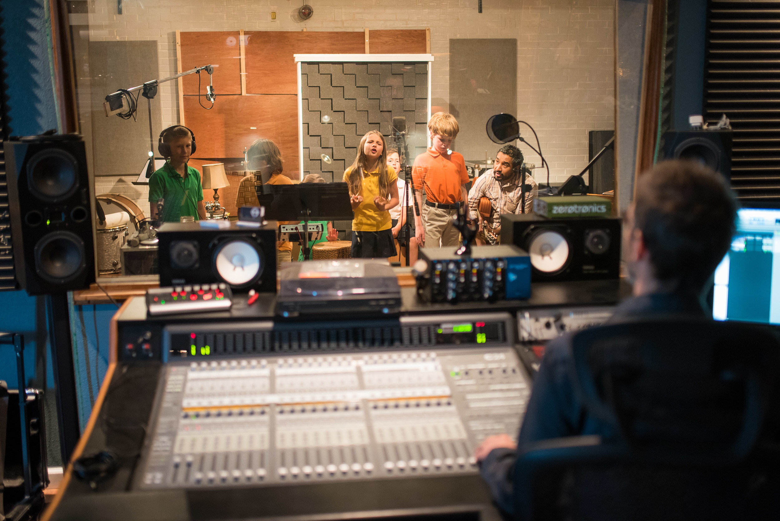 After a semester of learning rhythm and theory, Mr. Reyes' Musical Development class wrote their own worship song for a final class project. They then had the privilege of recording it at Center Street Recording Studio--an experience they will not forget!
