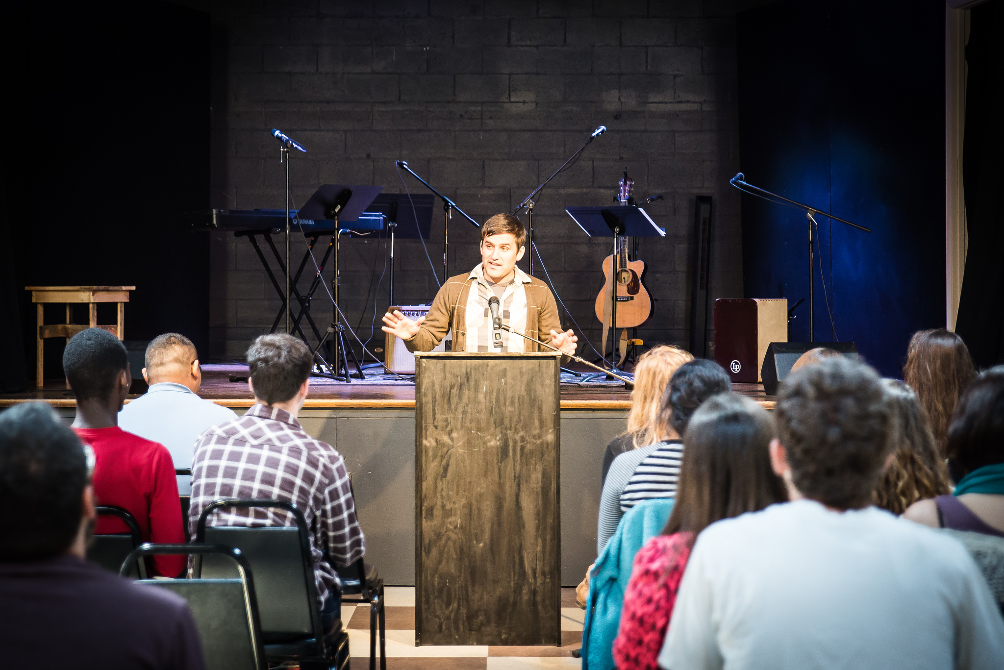 Instructor Benjamin Reese spends time each summer teaching God's Word to youth group through our SLAM program.