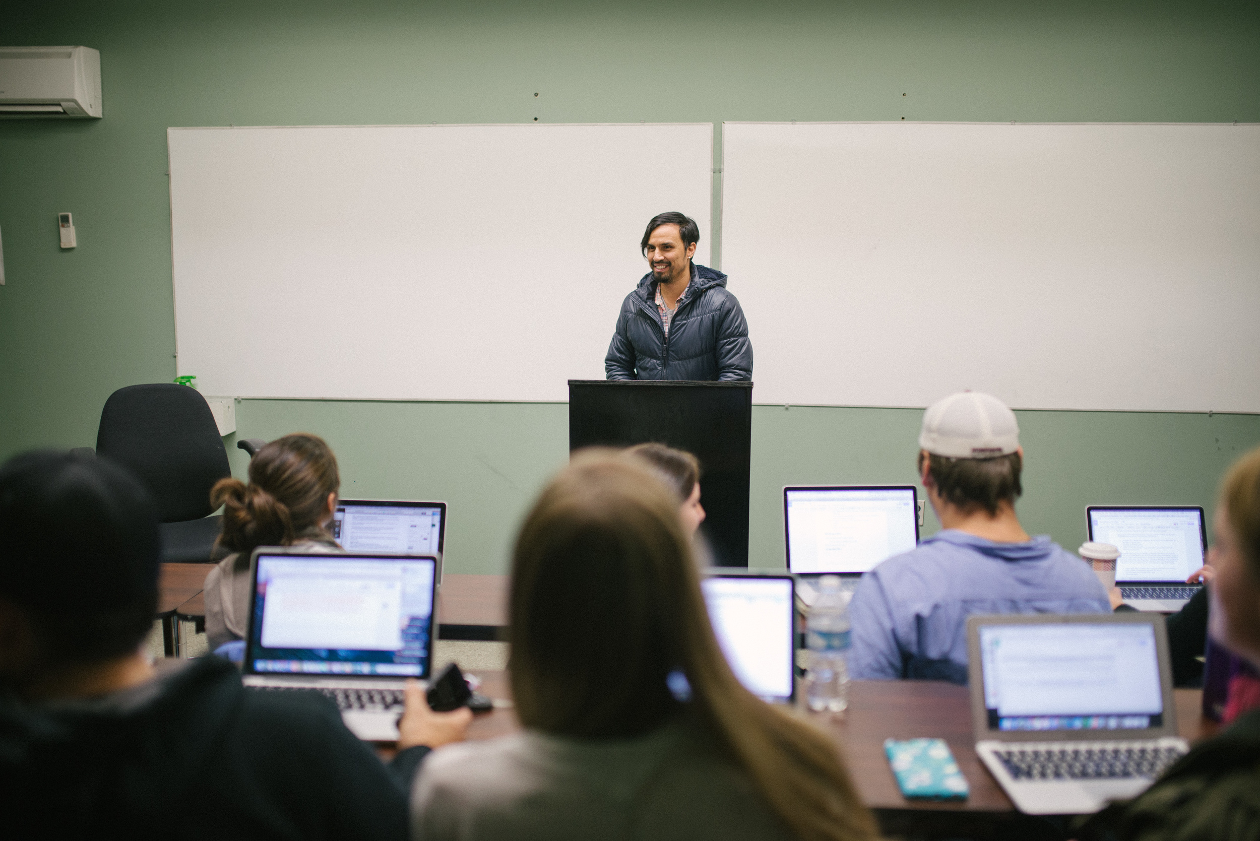 Gregg Garner taught one of our continued education classes last semester. The class was held at night so that people who work full-time during the day could attend.