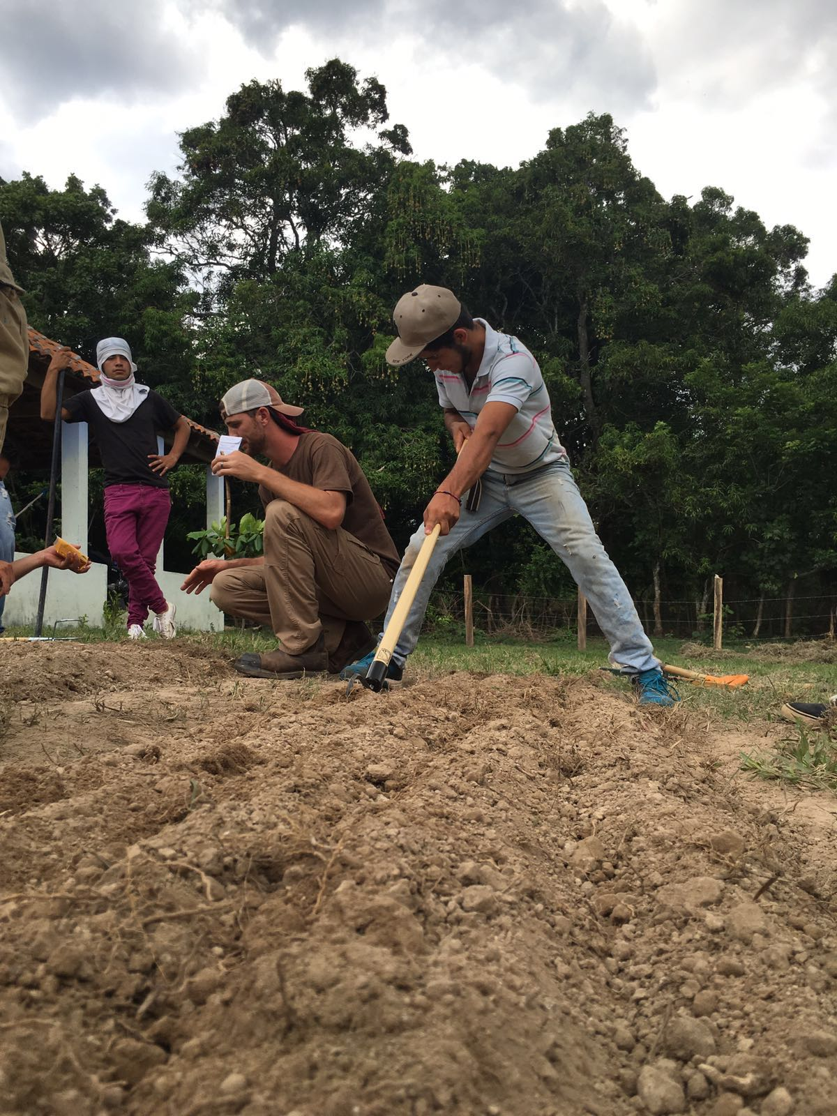 Workshop participants gained hands-on teaching on our organizational plot, and help implementing what they learned on their own land.