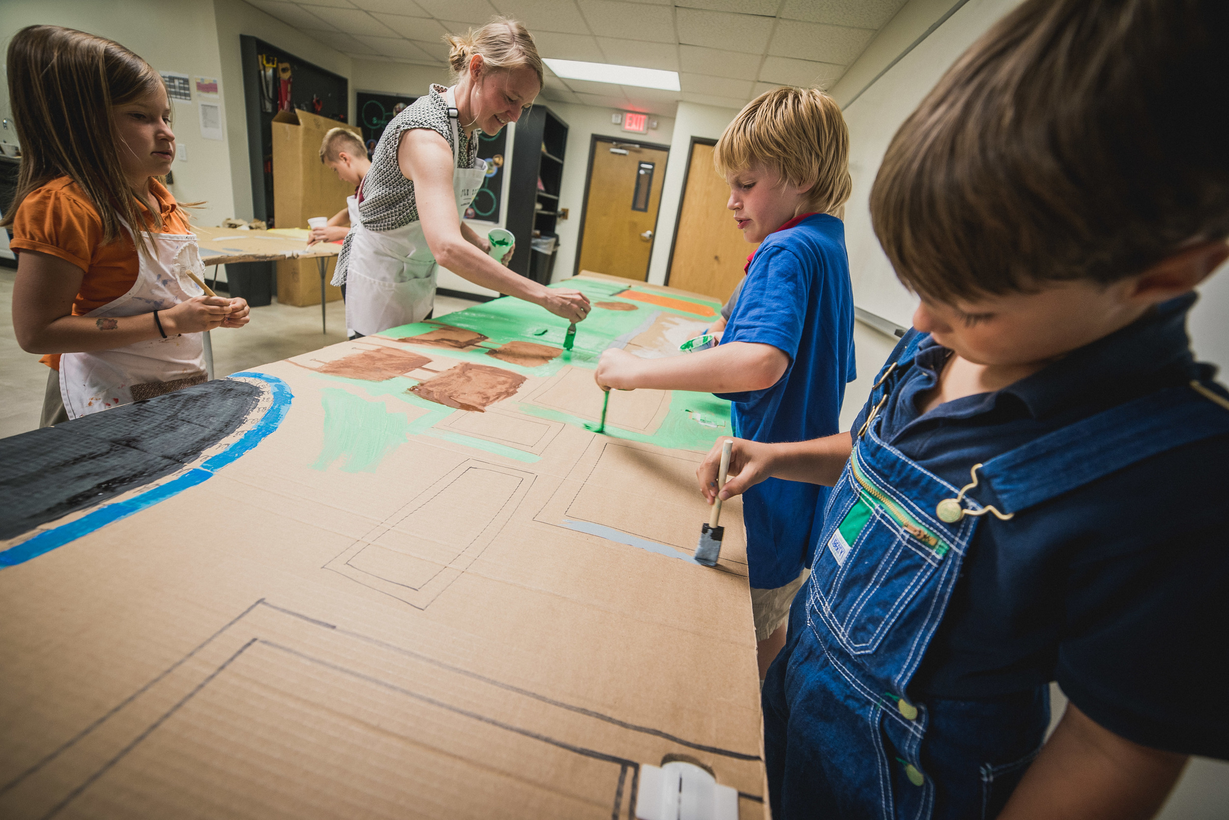At the Academy for G.O.D., Miss Foster teaches our General B students, always bringing her hands-on and artistic talents into the learning environment.