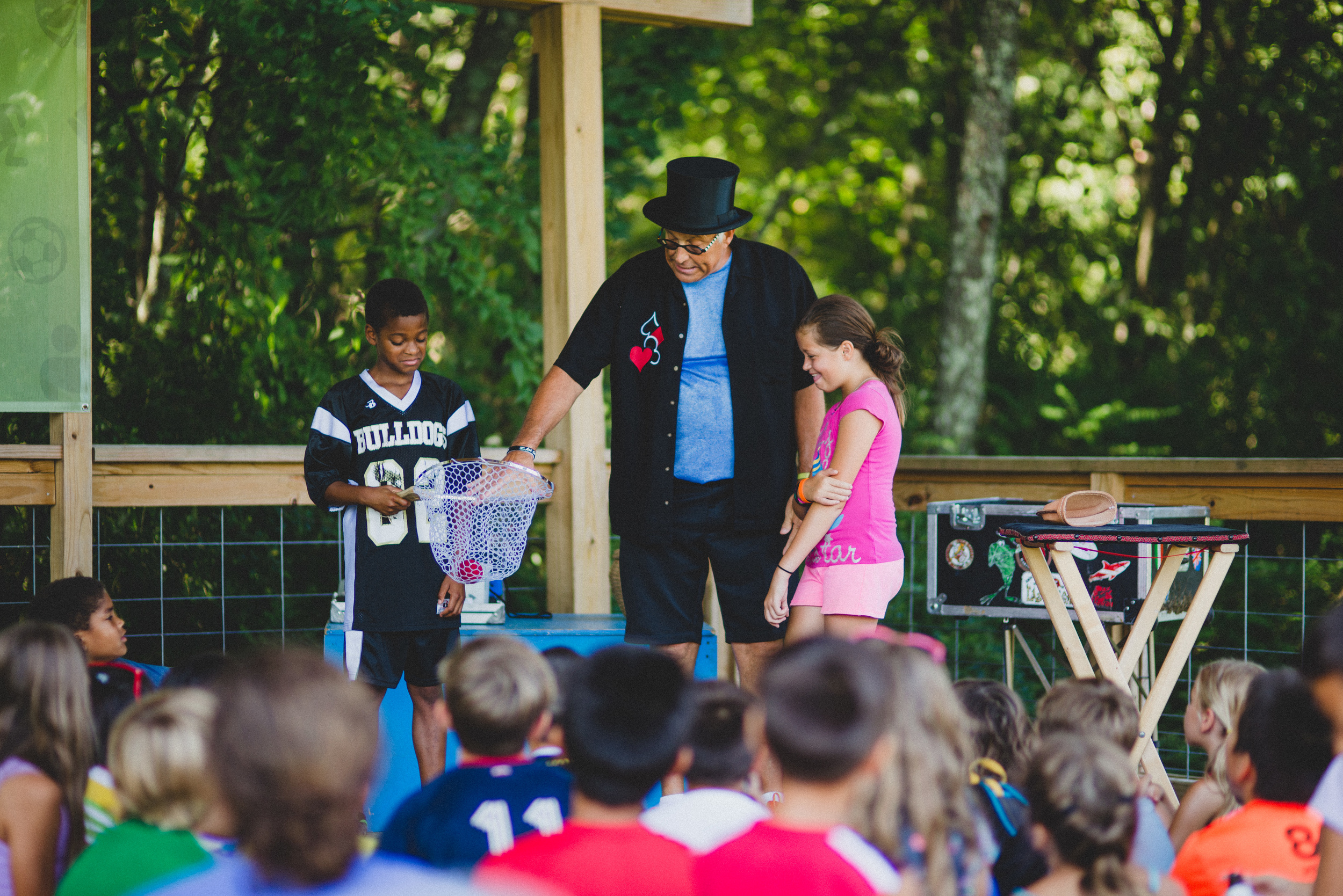 Volunteers like World Class Magician Stephen Bargatze make the campers feel loved and special on a whole other level by   sharing their time, talents, energy, and unforgettable performances.