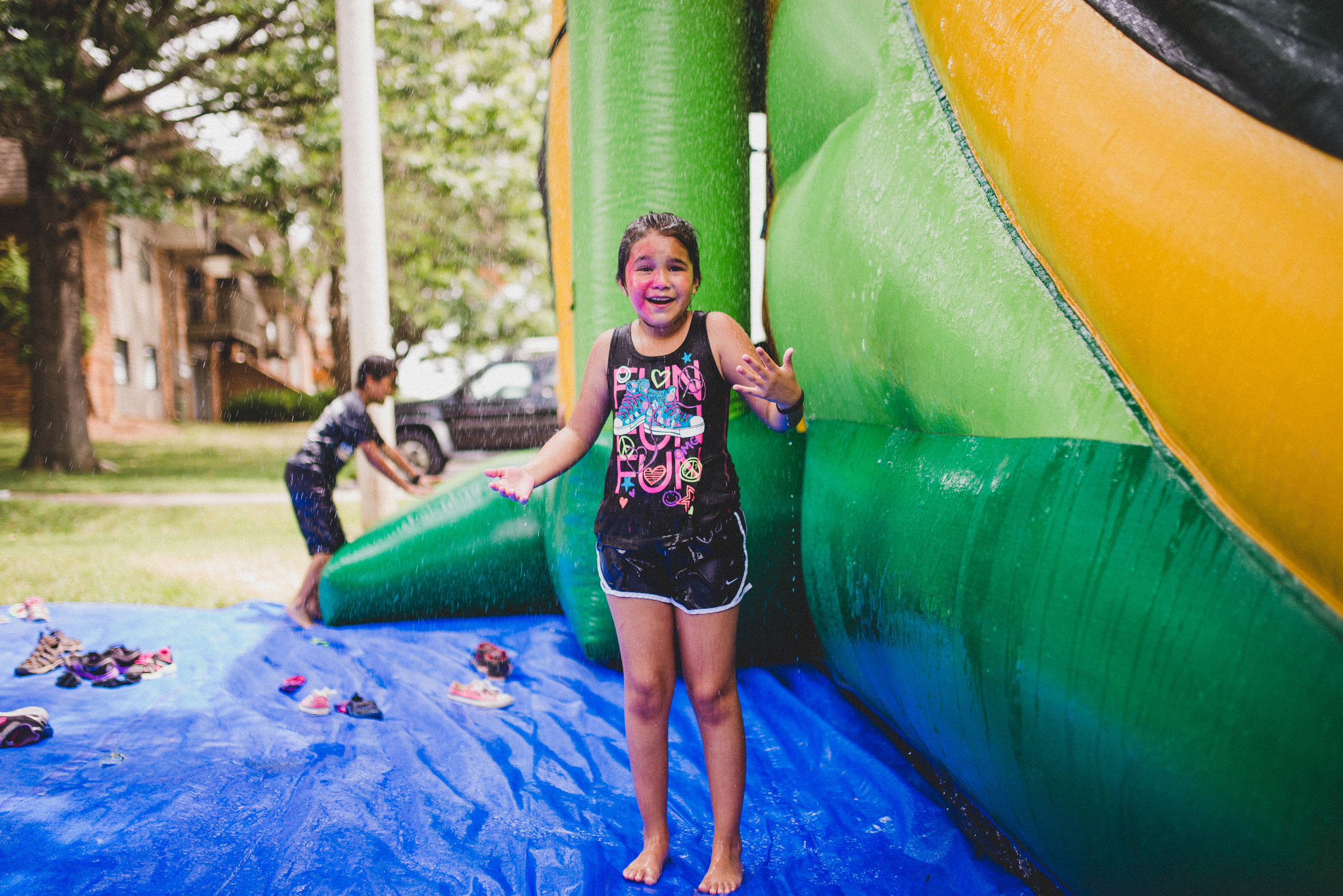 Development is inevitable. What a child develops into is another question. With adults who care, development can be steered to promote healthy functioning children who are not stunted by idle summers and unsupervised curiosity. She is neither idle nor unsupervised, and she looks pretty darn happy about that.