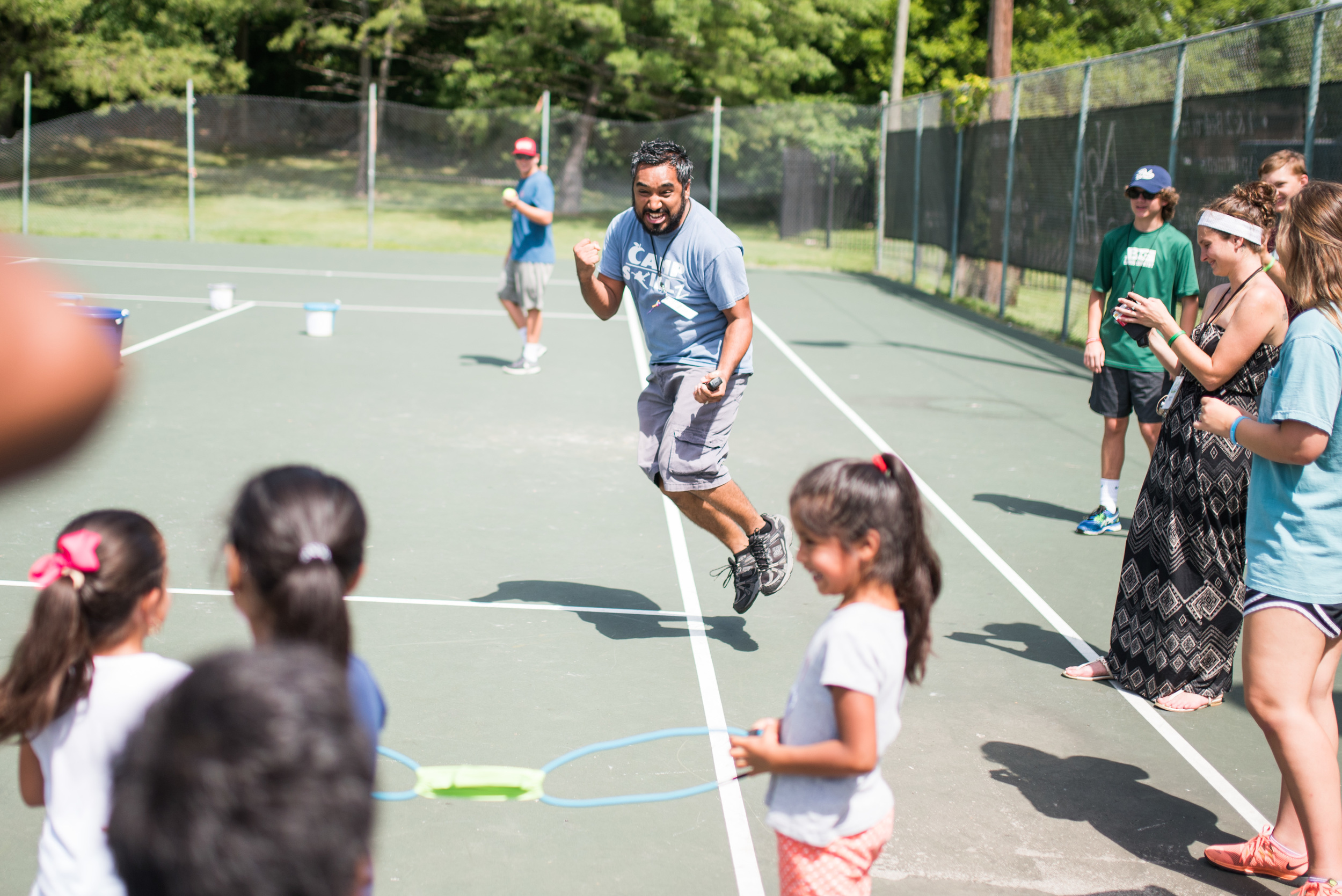 Rafael Reyes demonstrates the power of enthusiasm. Enthusiasm extinguishes all traces of apathy which can steal the youth's ability to engage and exert real effort towards an obstacle. Youth are constantly learning how to approach challenge, and thankfully they have counselors like Rafael who can model enthusiasm and belief.
