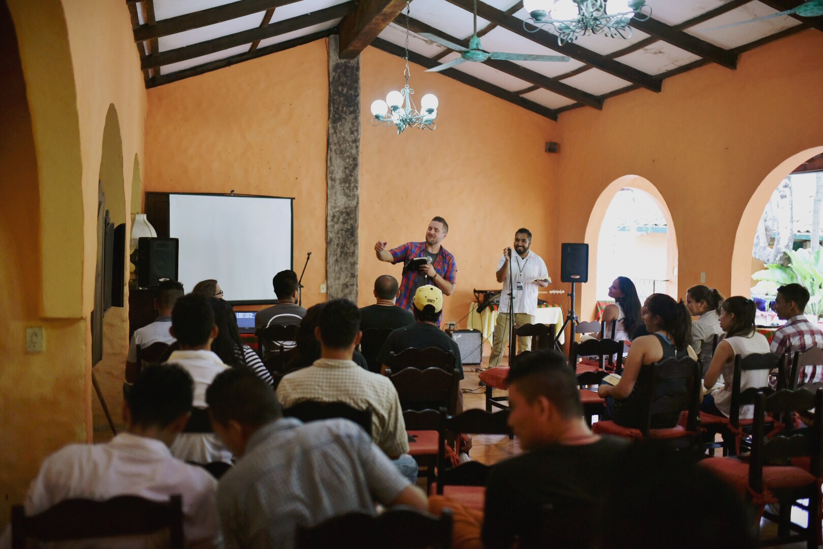 Matthew Parker, a bible teacher at our Institute, preaches on Matthew 5, encouraging the youth that they can do good works for the Lord and be the salt and light of their society.