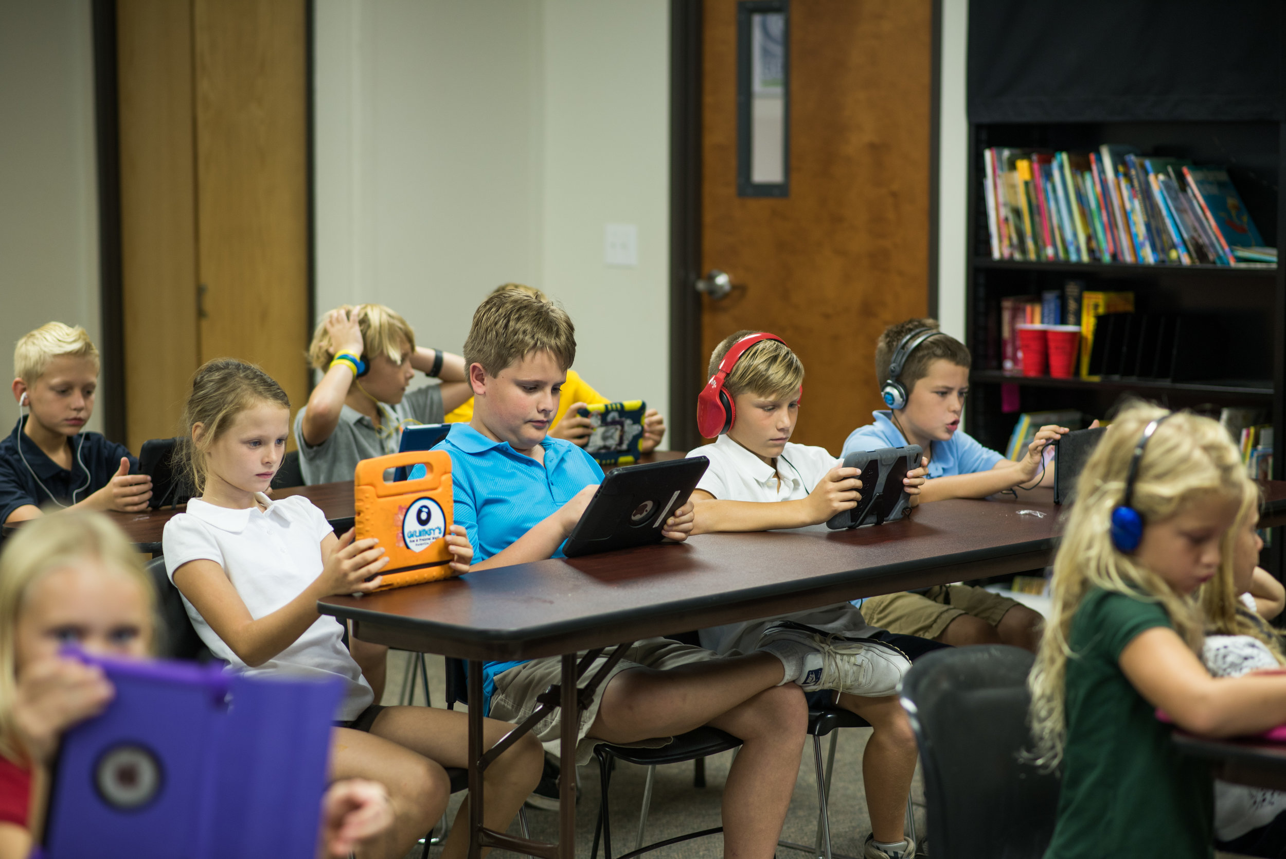 The Academy for G.O.D. doesn't have a computer lab. Every student carries their device right in their backpack, beginning in kindergarten.
