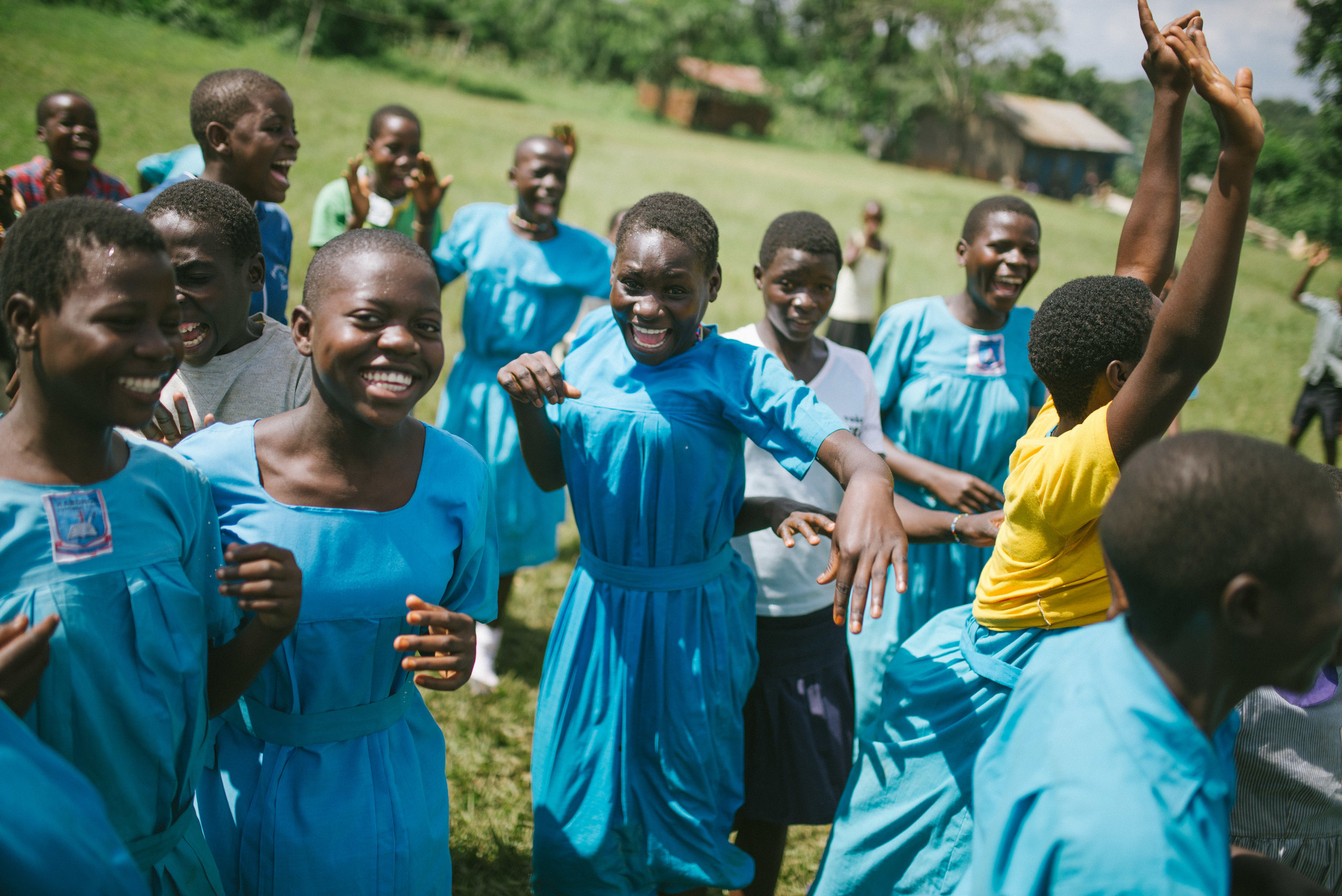 This year, each of the girls aged fourth grade and up at St. John's Primary received their own supply of reusable sanitary pads--a gift that does more than meet a need, it also keeps them in school.