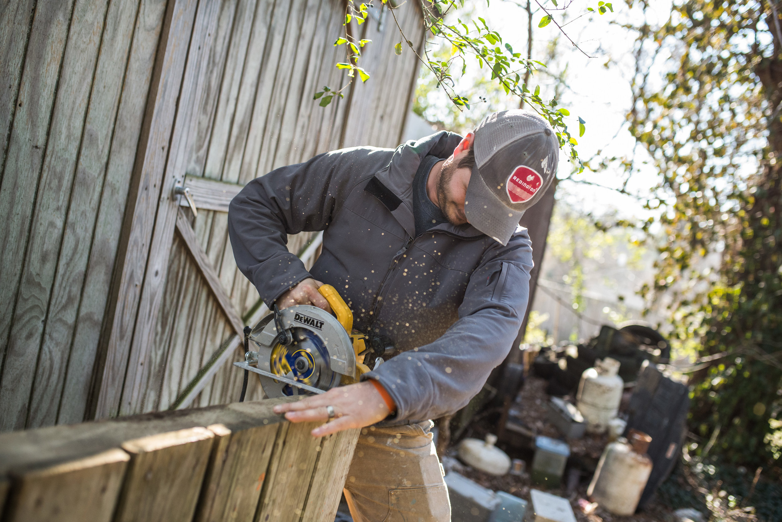 Cameron Kagay works for MCH Nashville, but has also volunteered his services for neighbors in Hopewell. This kind of generosity of heart is evidence of working as though the Lord is watching.
