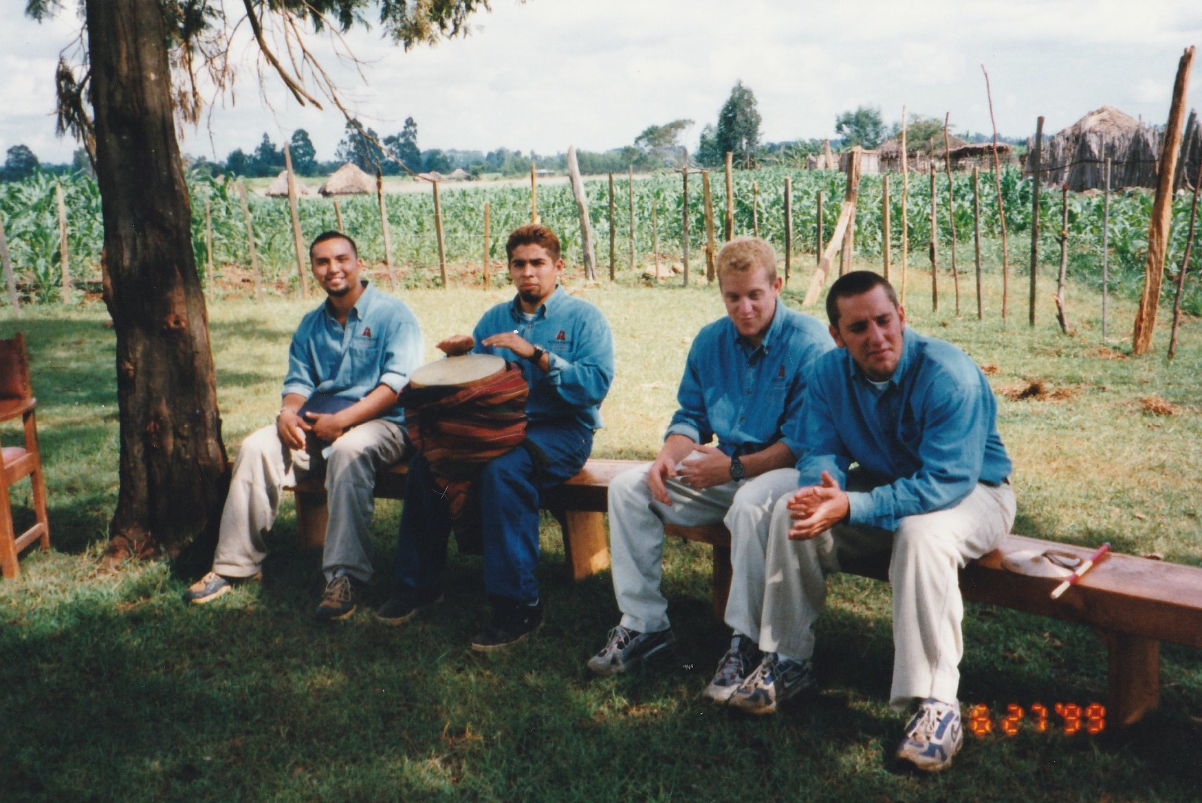 These three young guys on the left, from Azusa Pacific University, are all still around.Gregg Garner serves as President and Founder of G.O.D. Int'l, Robert Munoz, Health Care Specialist, and Jason Roufs, Director of Education.