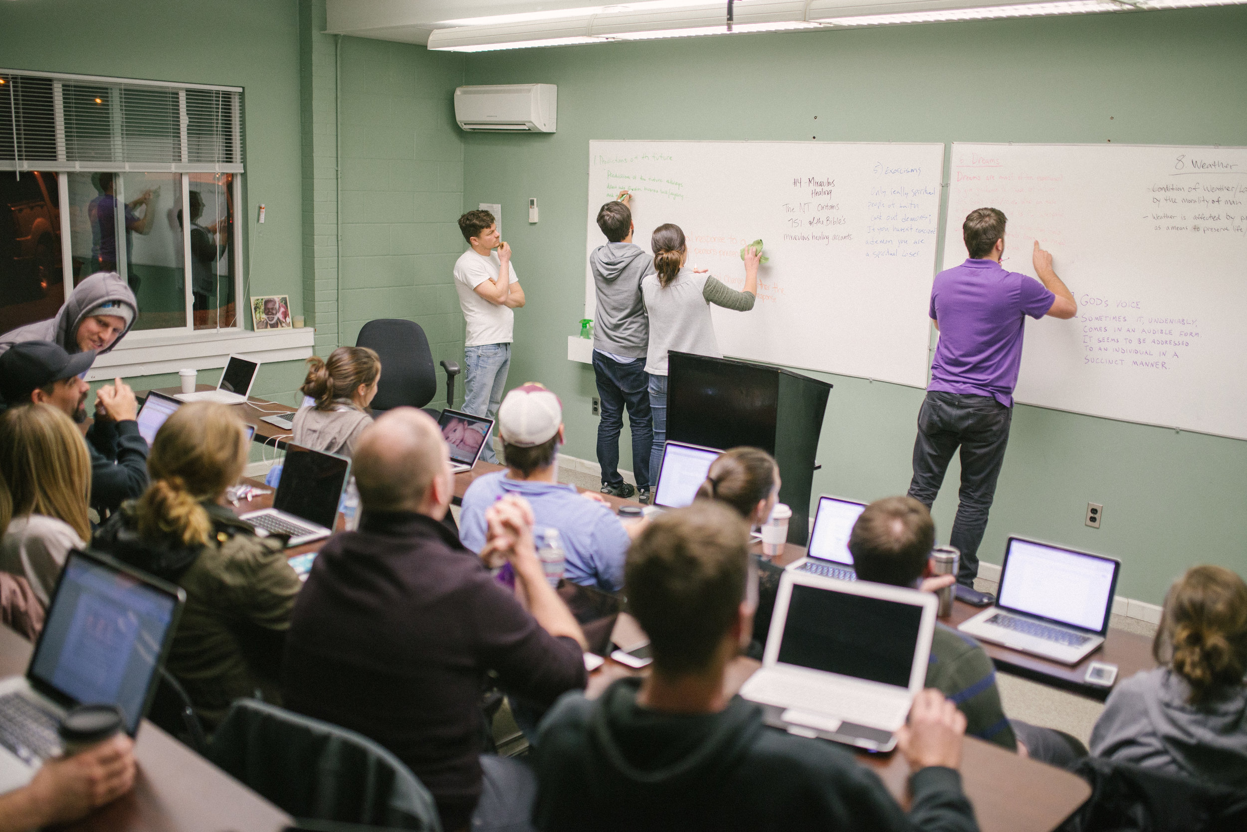 If you ask a graduate of the Institute what they're up to, you may be surprised to hear that they are still taking classes! We prioritize learning the Word of God, even after the completion of our undergraduate program, and create intentional venues conducive for everyone, from moms to handymen, to discuss God's Word.