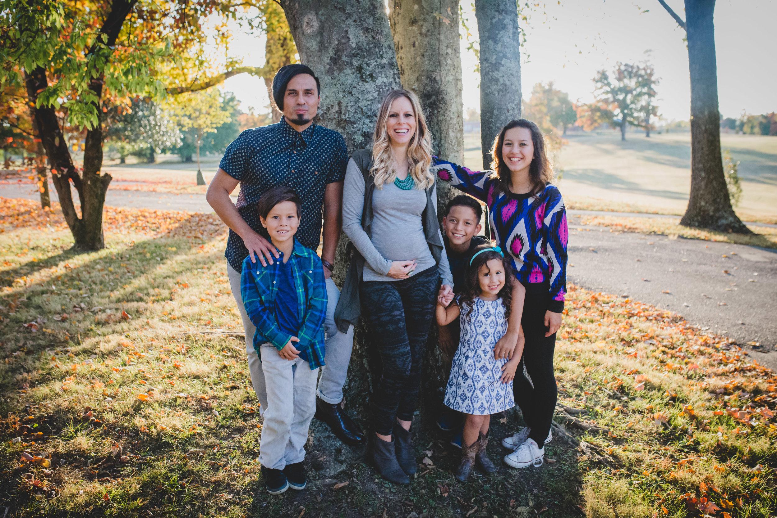 Gregg Garner with his wife, Tara, his daughter Genesis (who just turned 14), Justice, Xavier, Malayah (Fall 2016).