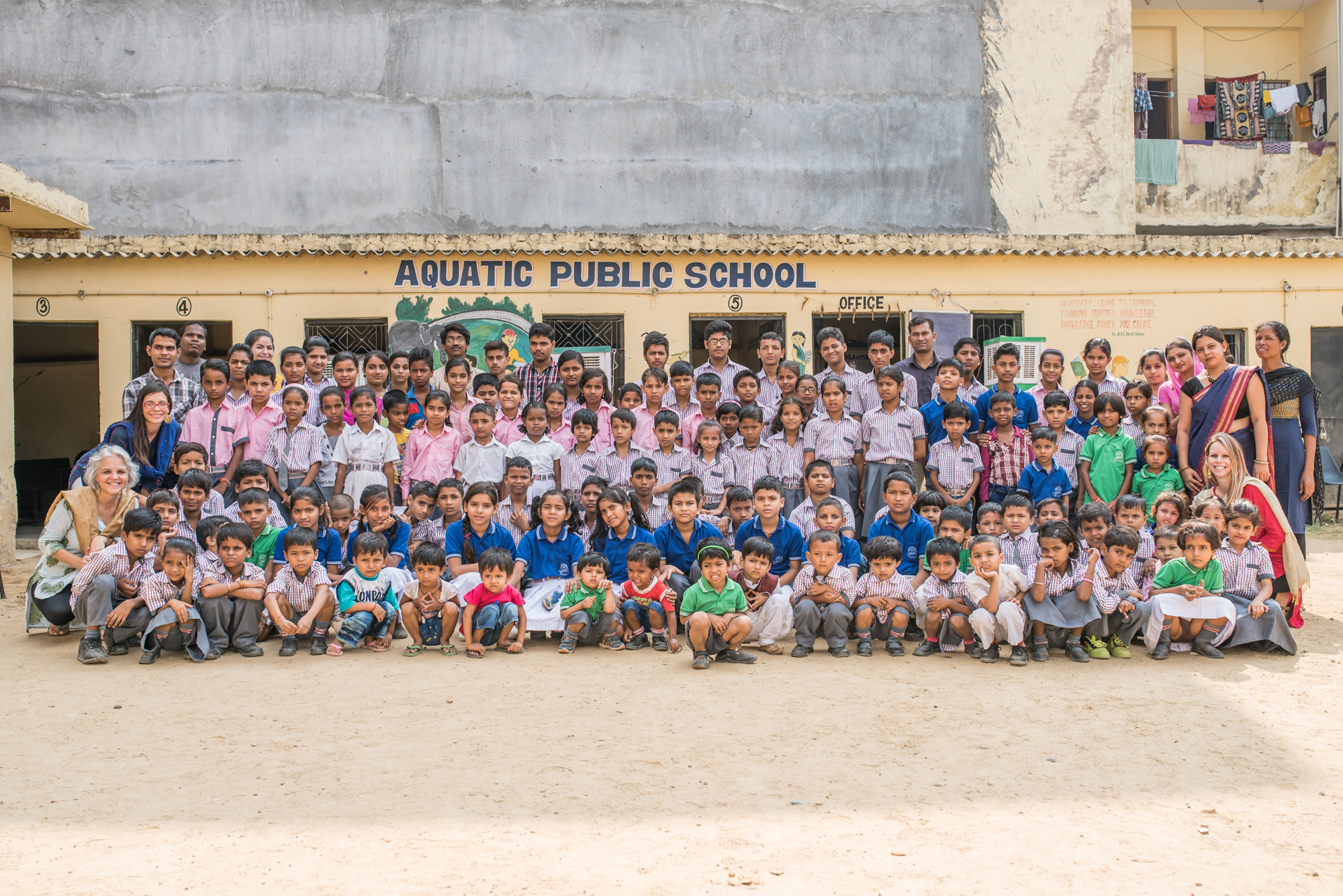Located in close proximity to our hub offices in the National Capital Region of India, Aquatic Public School is home to 150 precious children. Upon getting to know some of the faculty, we found an opportunity to partner with the school, offering skills from classroom management to how to get more water access to the school's facilities!