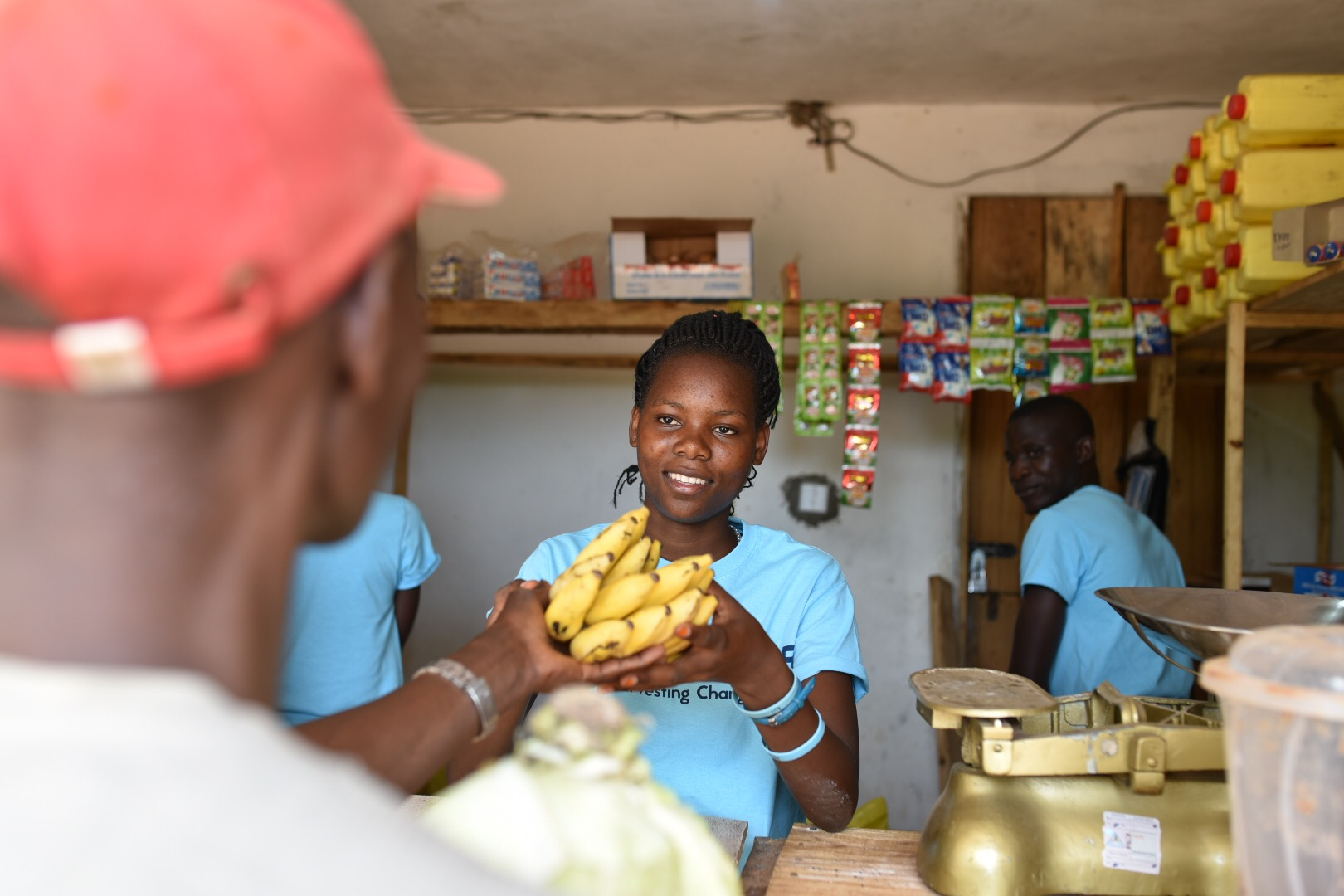 """This year we opened """" The Trade ,"""" a store that is harvesting change in rural Uganda by offering trade-credit for the currency the poor have to offer--produce. Beyond the trade-credit system, The Trade is offering healthy alternatives to favorite snacks and supplies. Thank you to those of you who have helped get this store off the ground!"""