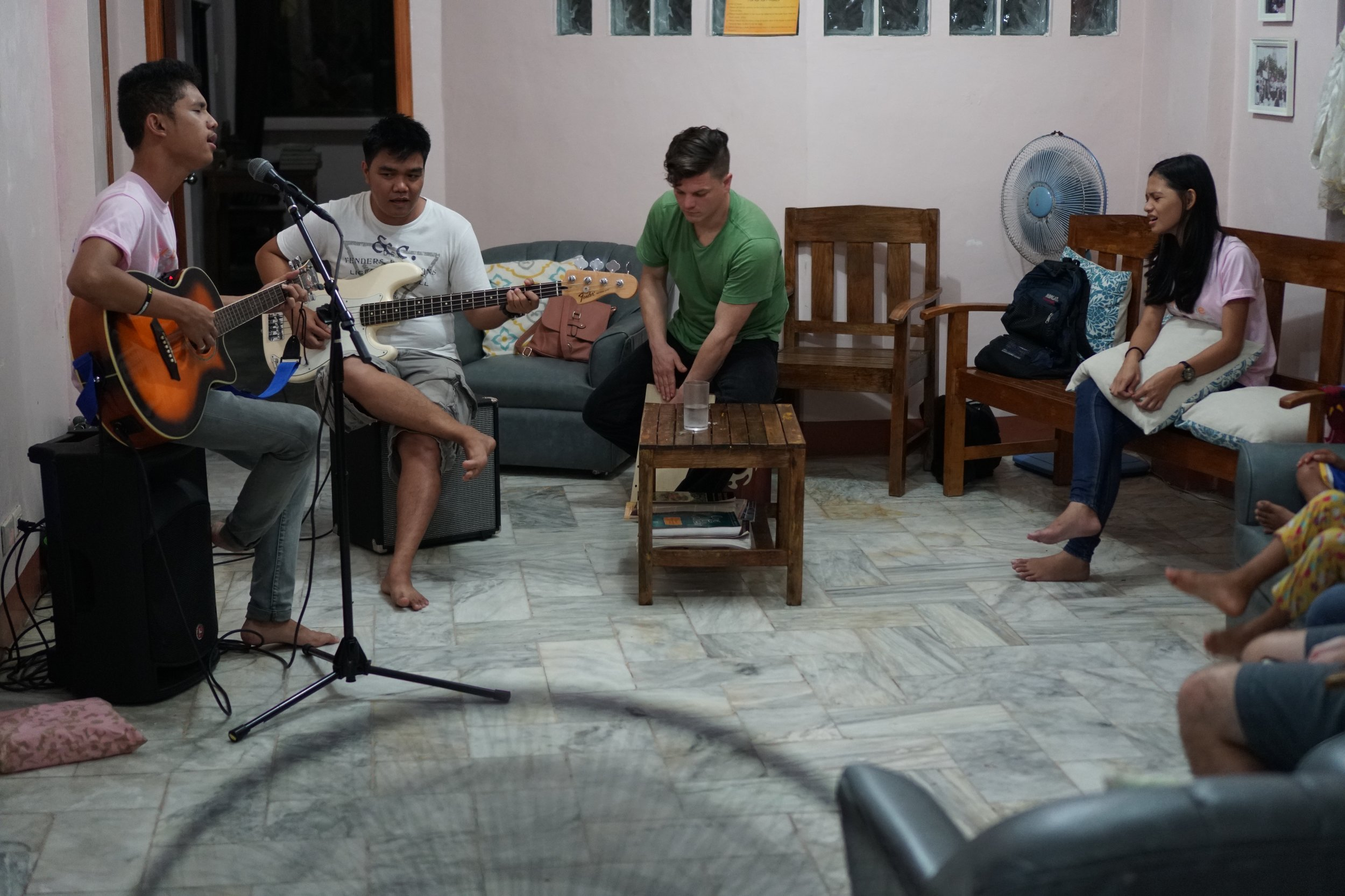 The Filipino love for music and performance often results in more spontaneous moments of worship amongst youth at Tahanan.
