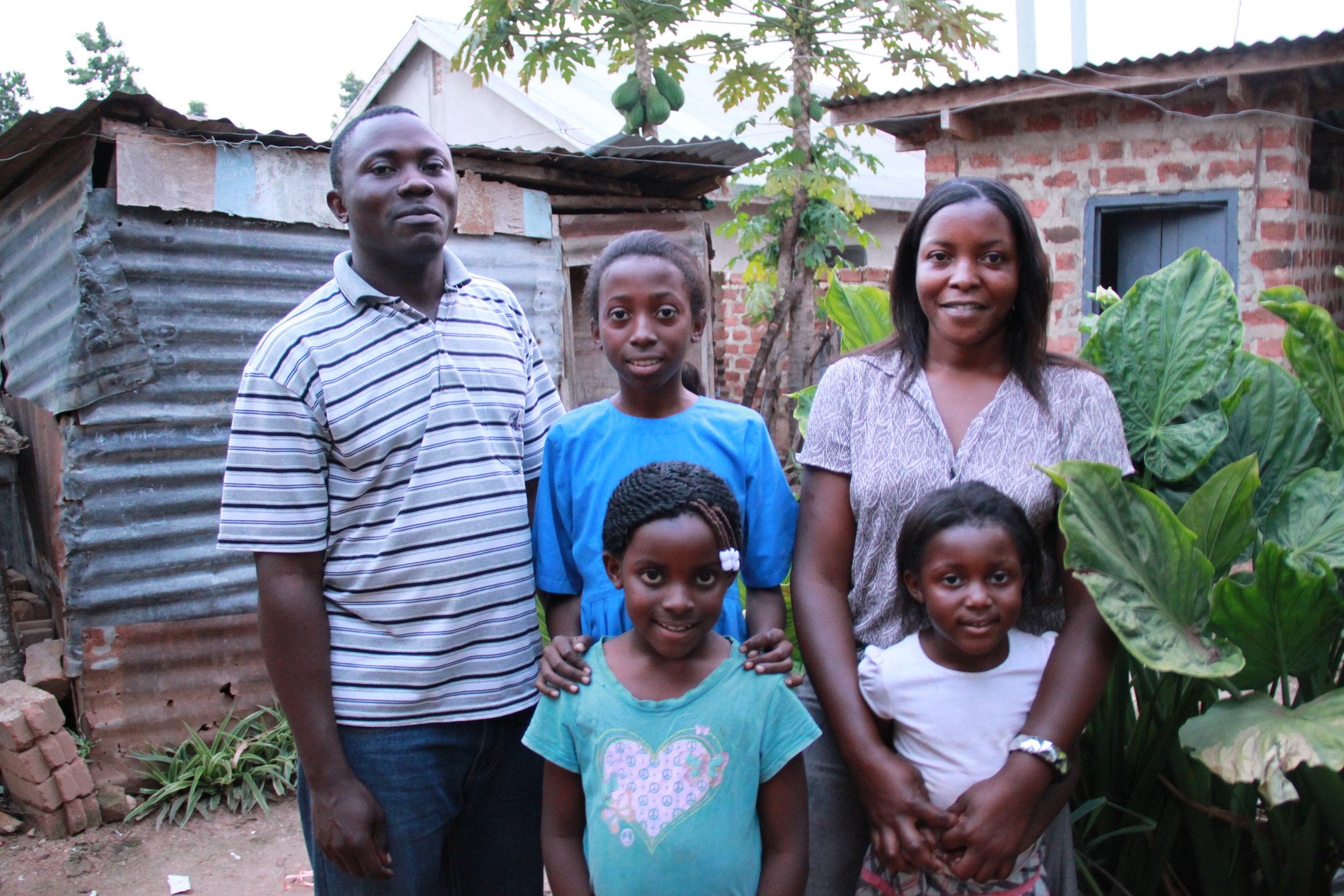 The Ssemakula Family, from left to right: Lawrence, Quinn, Genesis, Josephine, Genevieve. Quinn, middle, suffers from Sickle Cell Anemia.