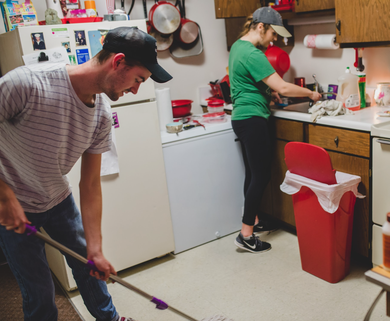 Students cleaned apartments of elderly and disabled residents at Trevecca Towers. They also took the time to listen to residents as they shared stories of their families and lives.