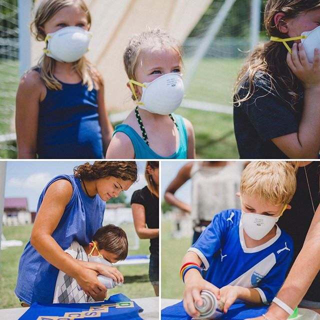 😷There was an outbreak, people! An outbreak of personalized awesomeness!!! 😜Campers enjoyed stenciling and spray painting their name on a shirt! #summercamp #nashville #nashvillekids #youthdevelopment