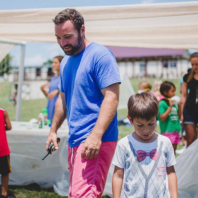 """Kids call him """"hi-larious"""", """"super really nice"""", """"a great hula hooper and dancer"""", and a """"giver of great prizes"""". Big shout out to Craig Duffy, #CampSkillz On-Site Coordinator, for a wonderful summer!!! We 💙 you!!! #walkietalkielife #summercamp #nashville #nashvillekids #youthdevelopment"""