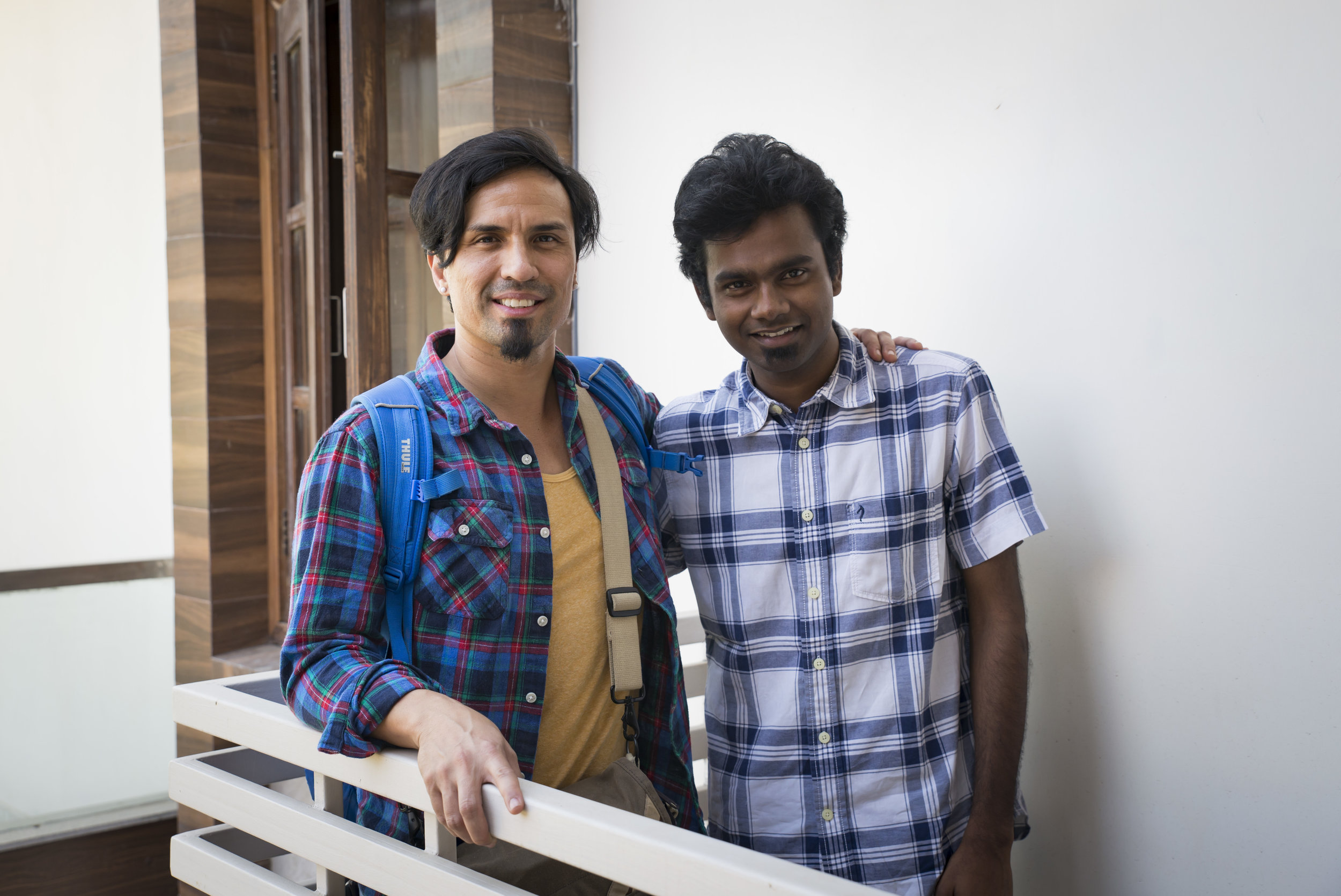 Manohar with Gregg Garner, who teaches the Biblical Foundations course. Manohar has been blessed by the time he has gotten with our India team to not only teach but demonstrate God's Word.