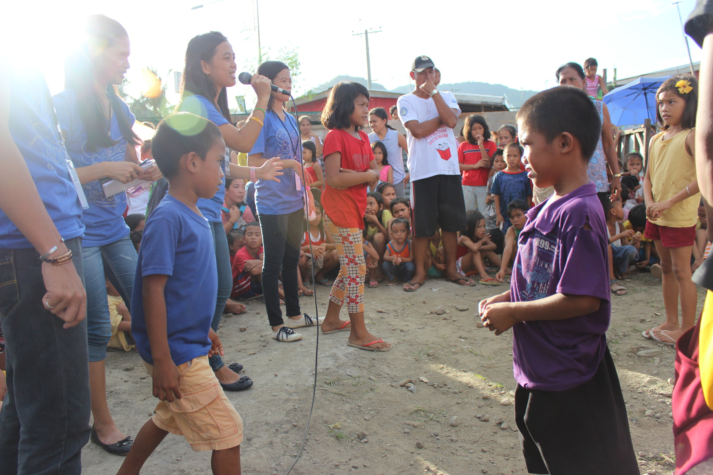 We helped youth in Tacloban City facilitate a feeding and children's program at a resettlement camp where over 500 children resided in very cramped conditions for over 2 years.
