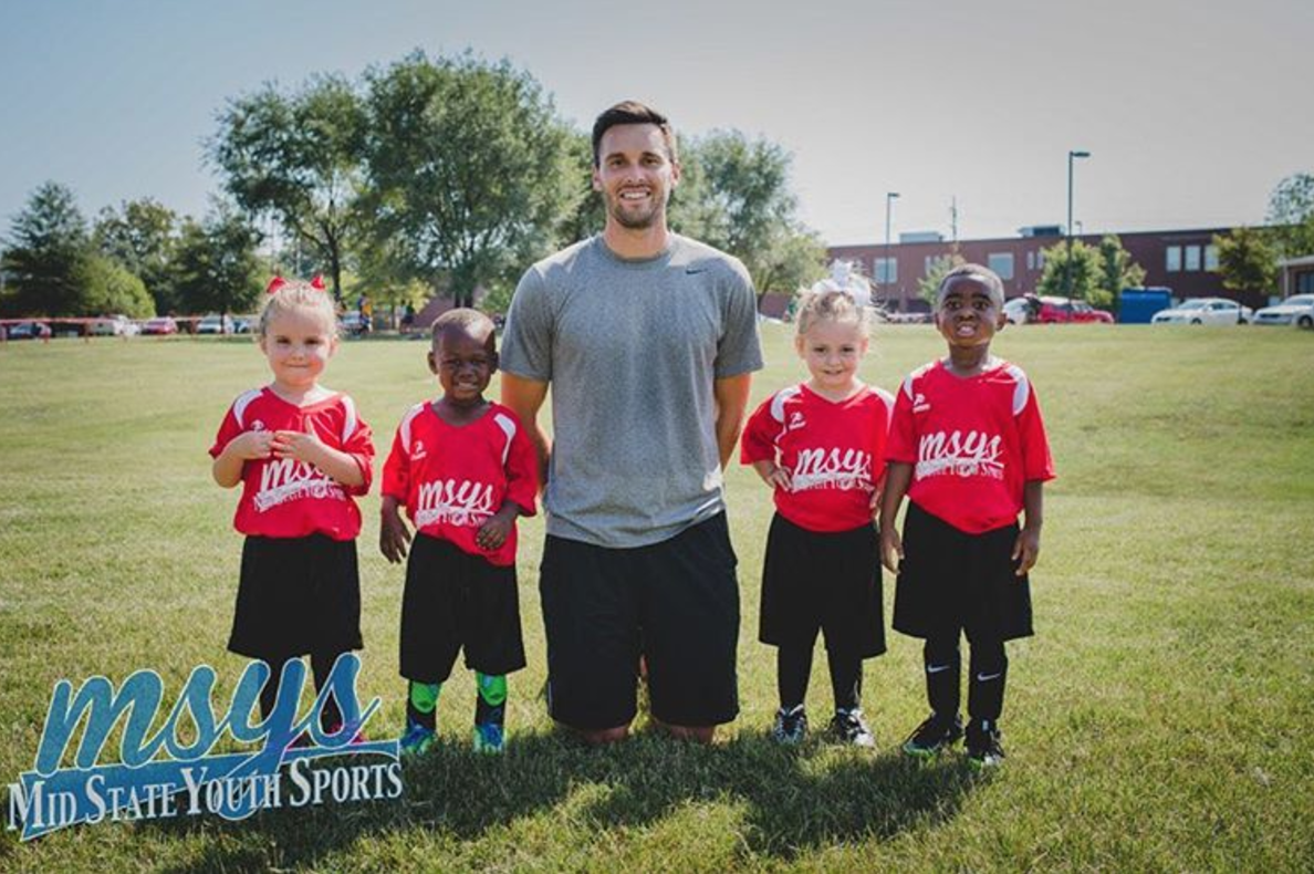 """This fall I coached my first soccer team. It wasn't really the plan, but when you work for the league and there aren't enough coaches, you step in. They were 3 yrs old, and couldn't have cared less where the ball was most of the time, but it was fun for them and me. I hope to one day be able to do this same thing for the kids at St. John's school in Uganda because what we do here is what we do there. My friends who serve in Latin America are seeing this happen with the kids they minister to in El Salvador right now in their own youth soccer league. Amazing stuff.""                                        --Ben Young, Fall 2016"