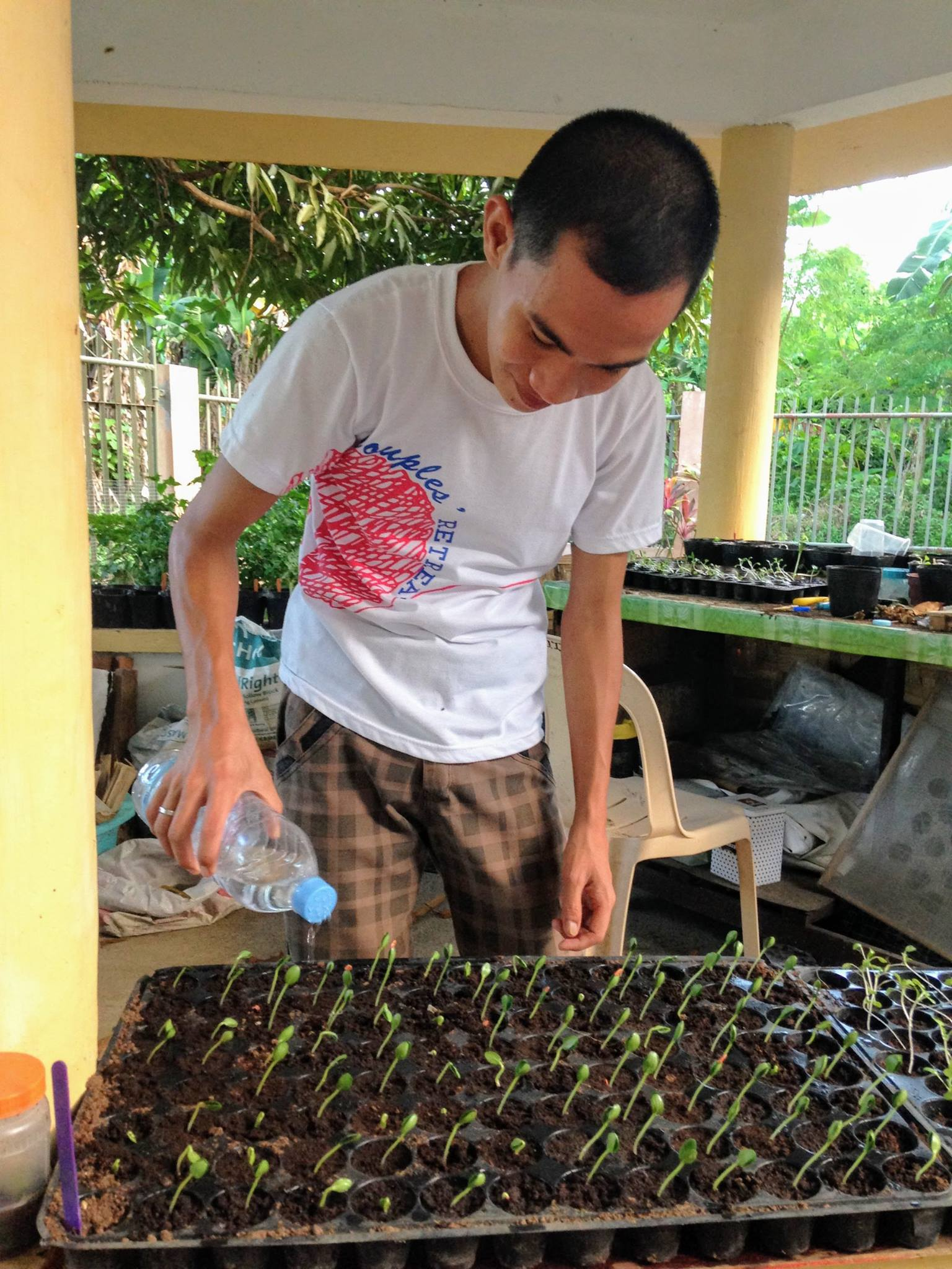 Developing a garden was one of the variety of skills Pepito was stretched learn during his internship at Tahanan.