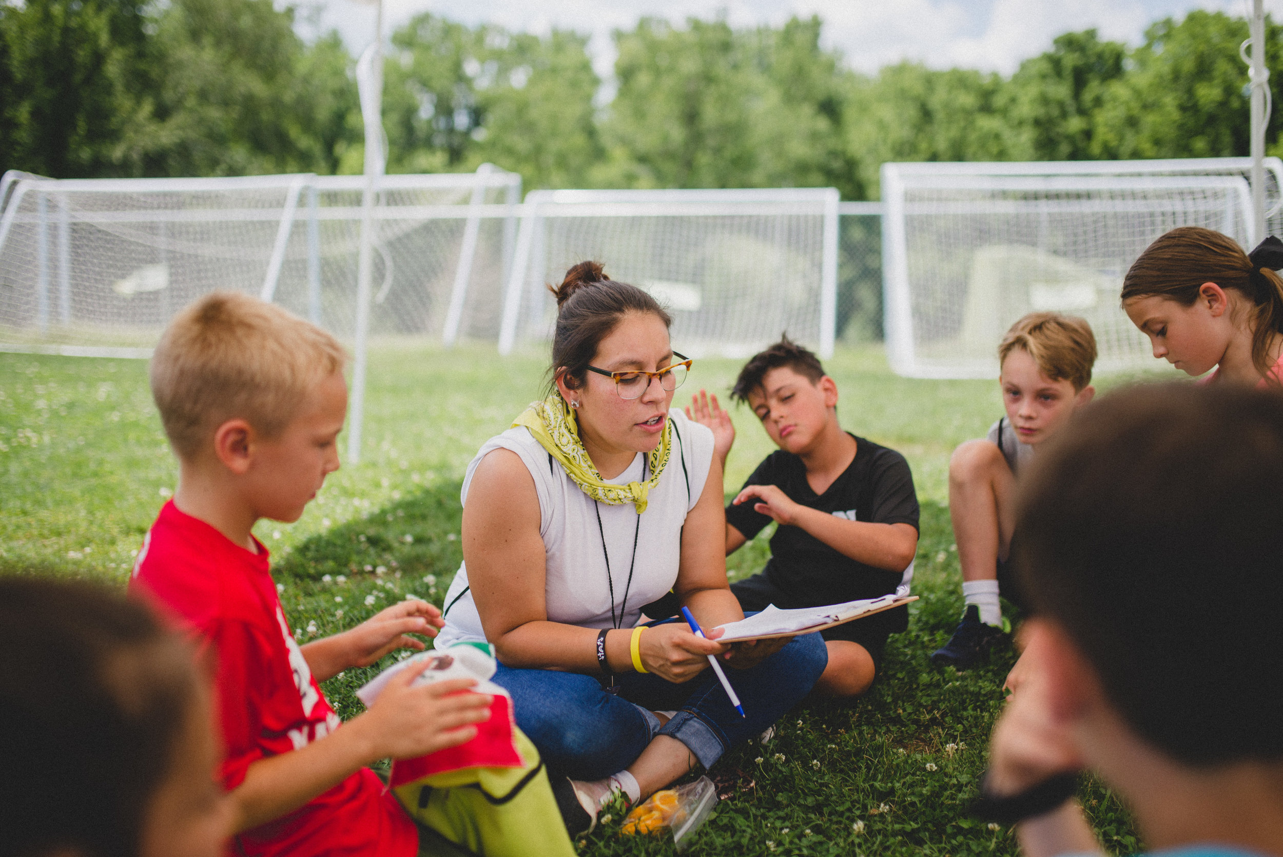 Blanca, a counselor with Camp Skillz, loves being alongside the kids during the day to encourage them in their competitions and challenges.