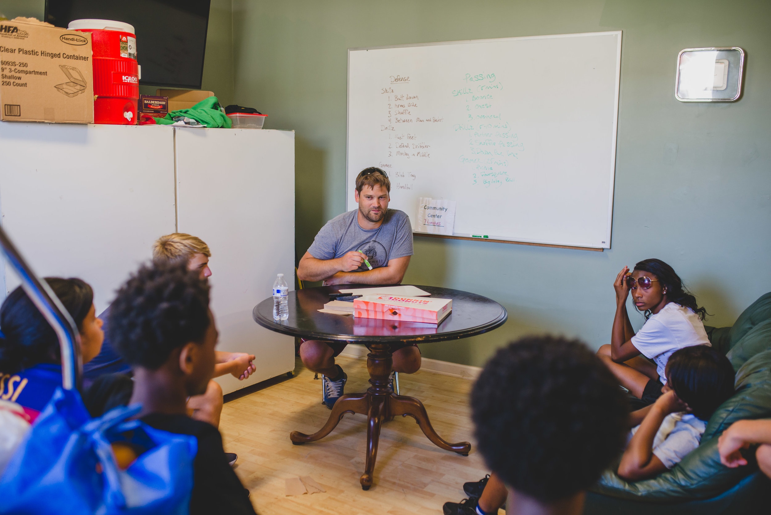 Joel Olson is well seasoned at working with kids. As a father of 3, teacher at the Academy, and volunteer coach, Joel is a wonderful asset in teaching others how to work with kids.