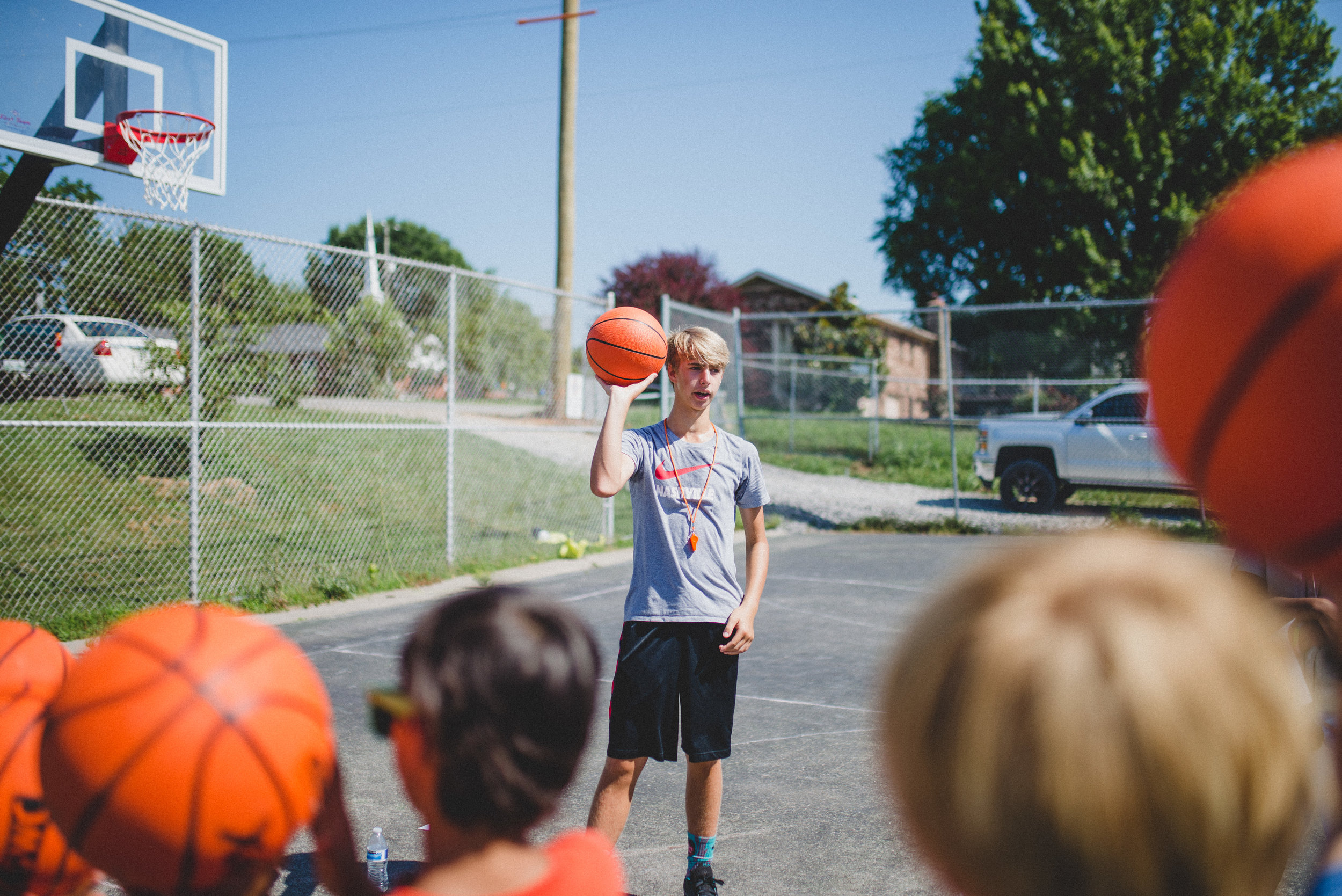 """Campers at Camp Skillz know this WorkWell employee as """"Coach Buckets,"""" and find him entertaining and encouraging, and he's good at basketball."""