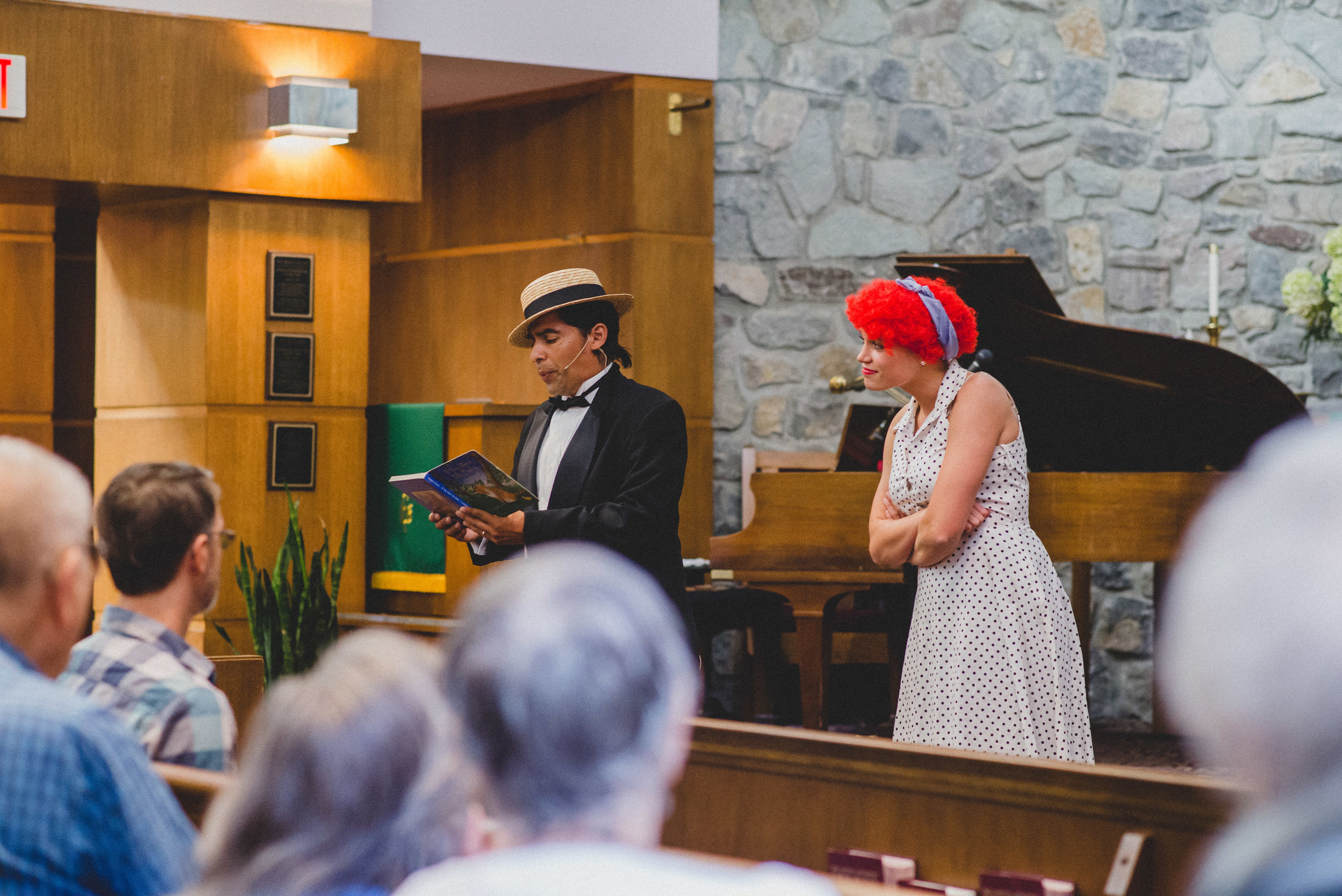 Interspersed between the Ginger Ale's performances were short comedy bits by Robert Munoz, drama expert, and Amanda Byrd, near peer manager. Taking on the roles of the beloved Lucy and Ricky Ricardo, the audience was audibly delighted by their performances.