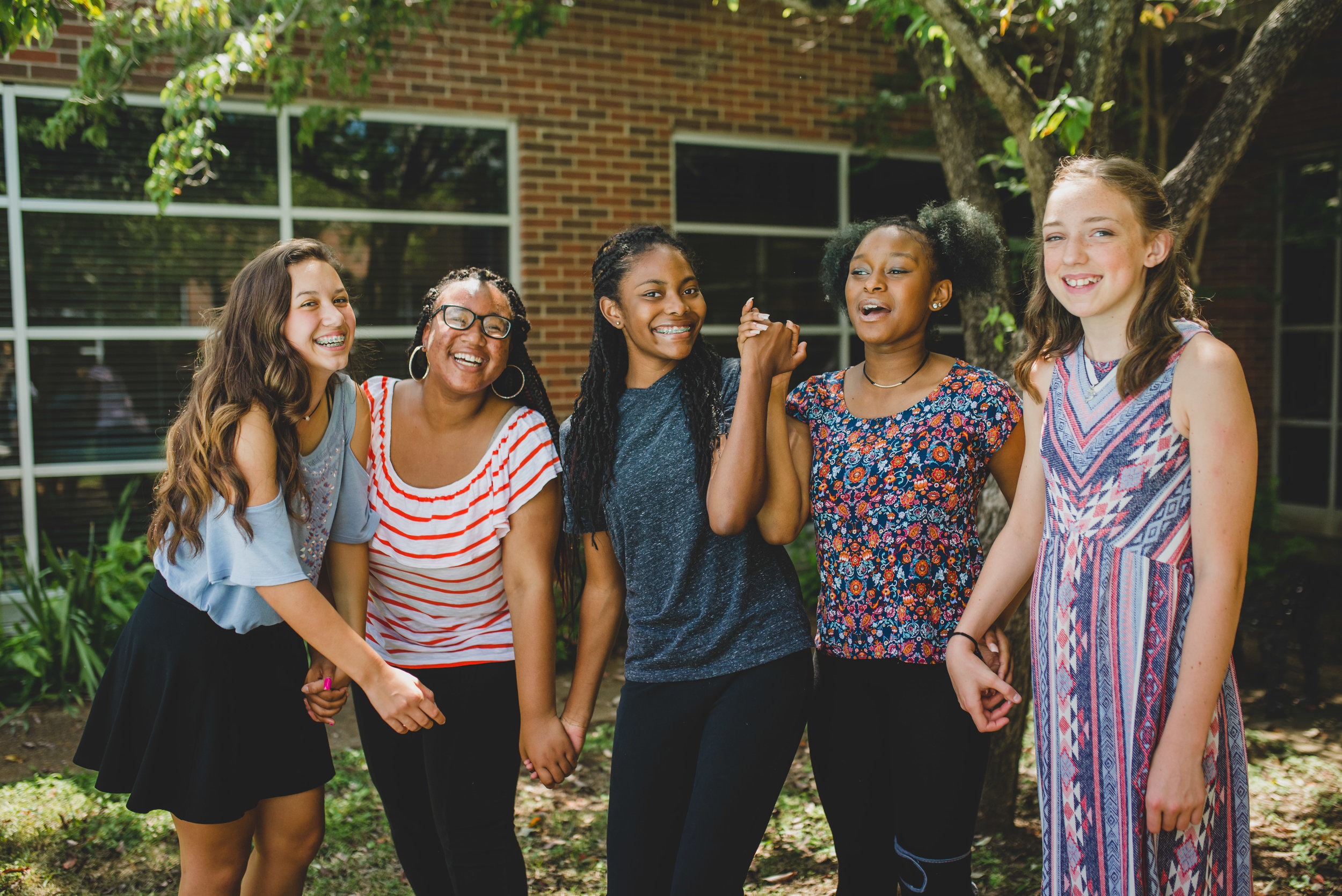 Five young girls.  All from very different backgrounds.  They formed a bond through learning to work together and celebrate one another's gifts.