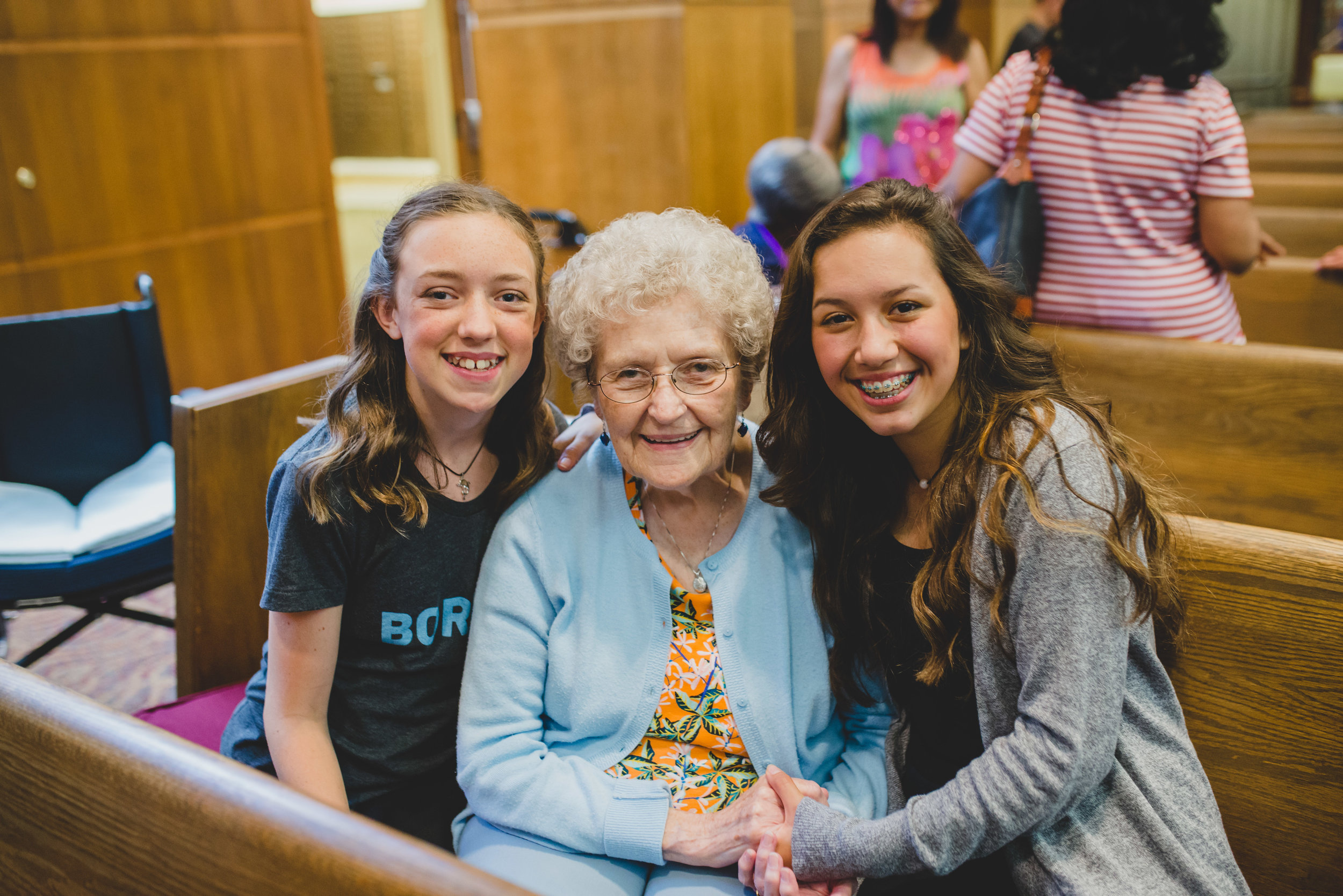 One of the most impactful experiences for the girls was getting to sit with the residents and hear how the show was a blessing to them.