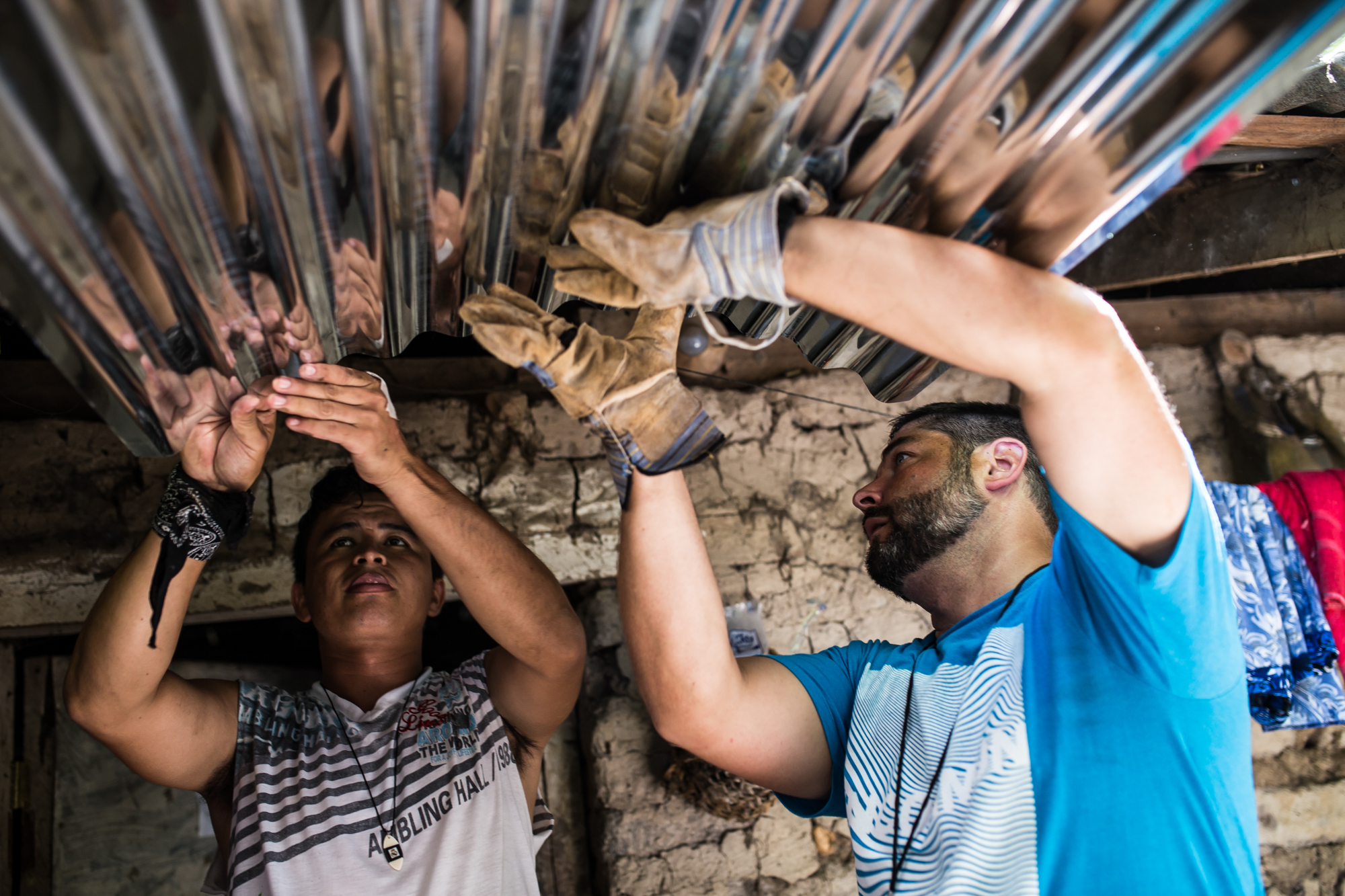 Youth leaders from the US worked alongside our Salvadoran interns to construct safer structures for neighbors in need. It was a joy to witness the transference of skill that took place in projects like these.