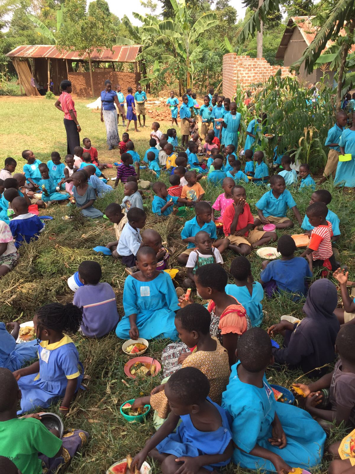 St. John's school children ate a nutritious lunch, harvested and prepared by our interns on-site at the school garden and kitchen. It was a powerful moment for all, as our East Africa team has been working towards this goal for some time.