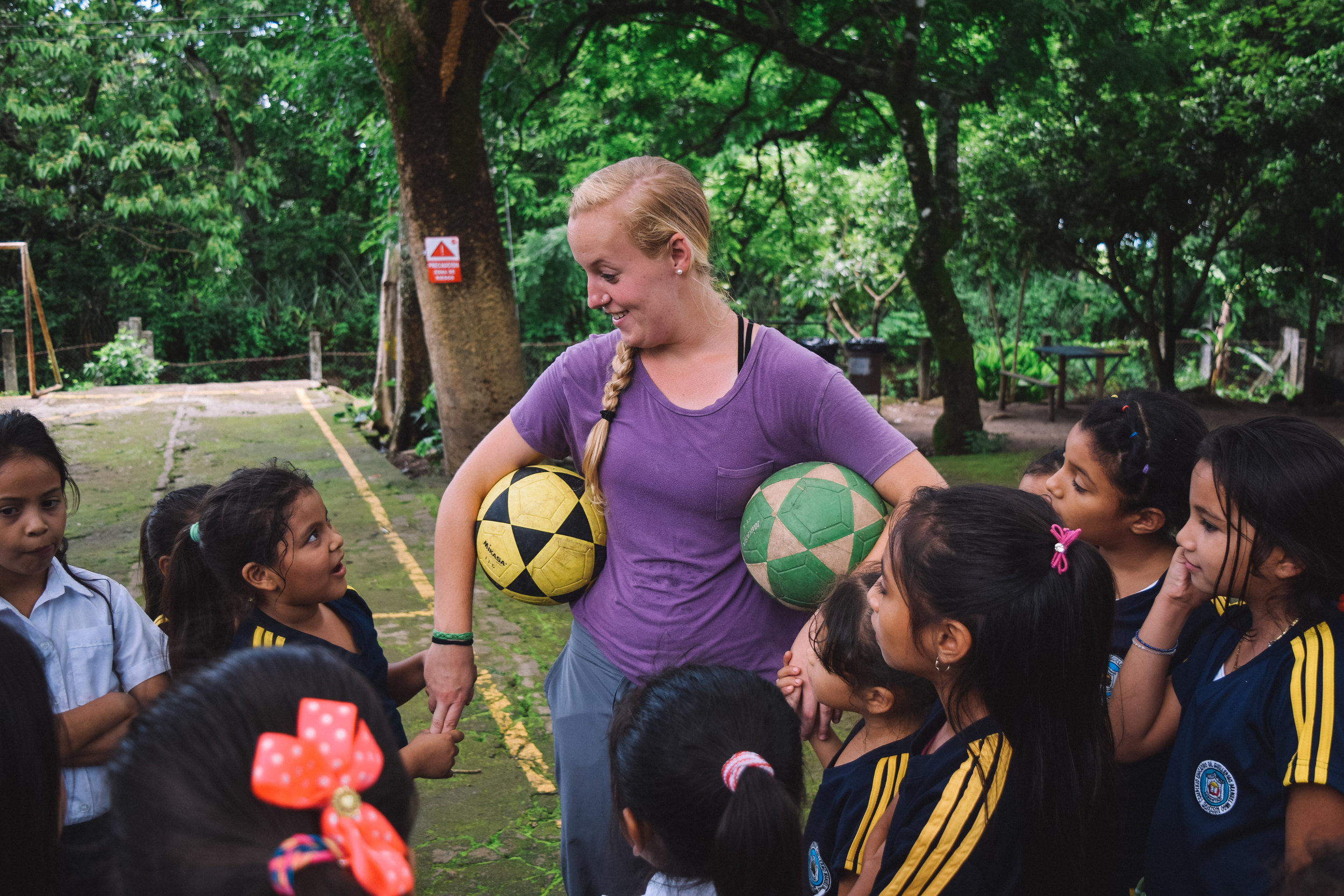 Anna Hastings' immersion project was to host the second season of a soccer league on our campus in rural El Salvador.