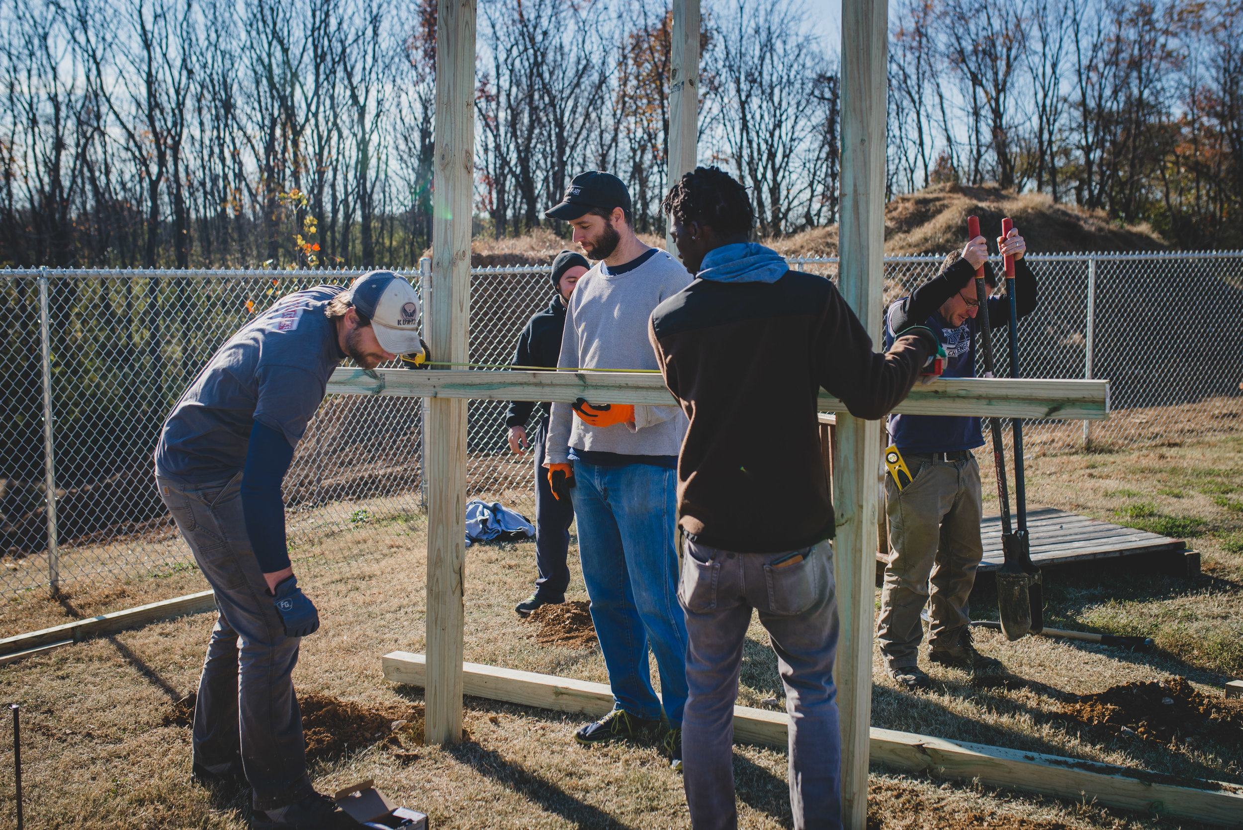 Our G.O.D. staff loved working with John when he would willingly and faithfully volunteer for projects, like the Academy for G.O.D. playground.