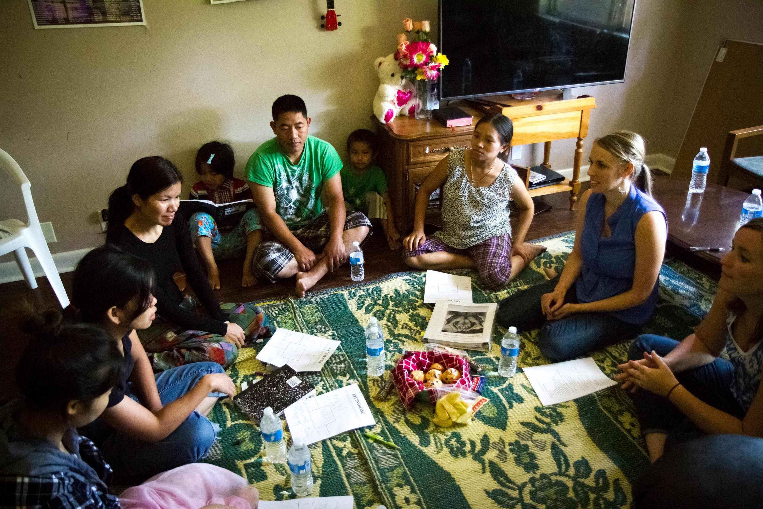 Kendice Hartnell facilitates a childbirth education class for the Burmese community, who are adjusting to a medical system very different than their culture.