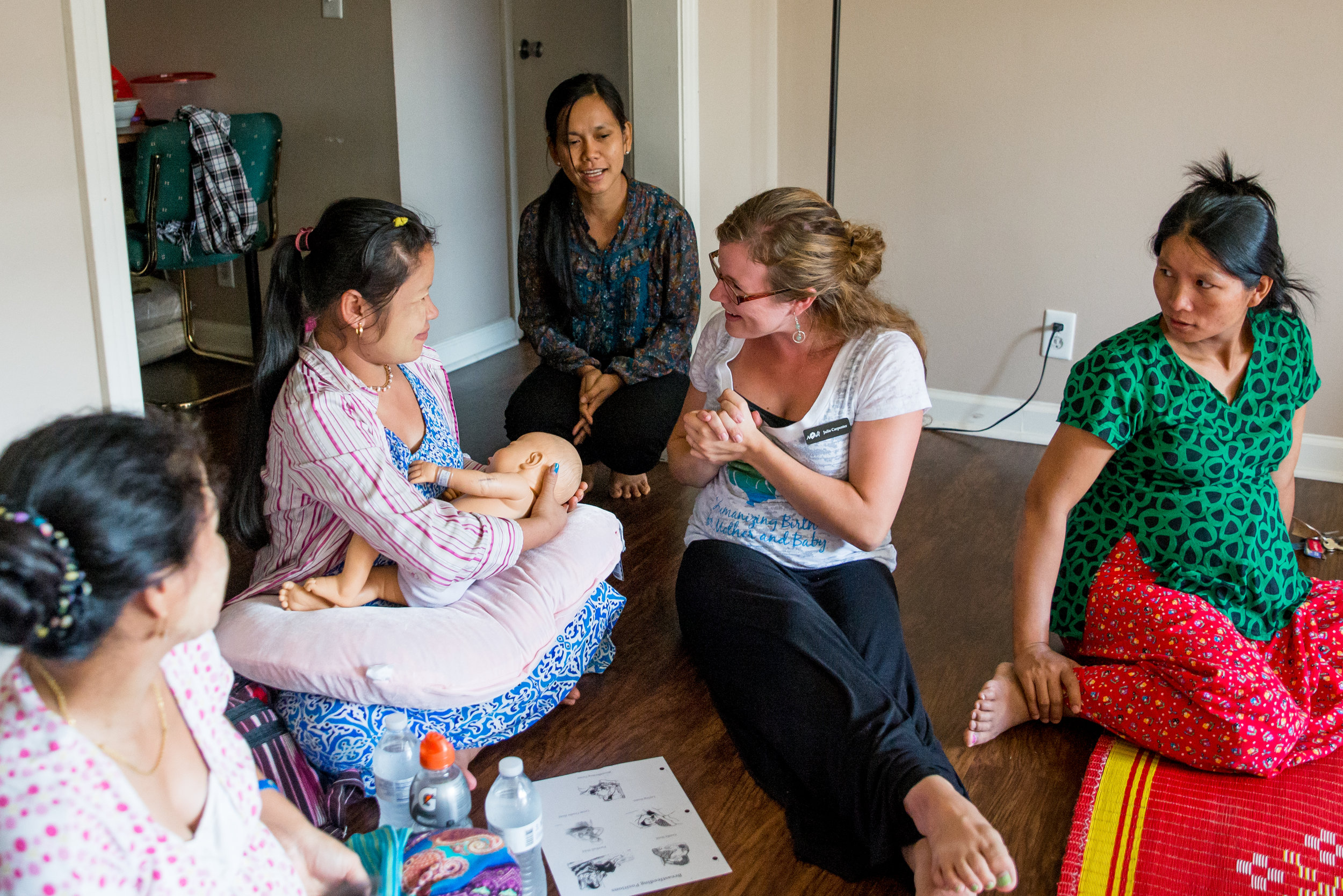 Through our partnership with NOVA Birth Services, we've been able to offer not only childbirth classes and doula support, but also breastfeeding counseling and education, all free of charge.
